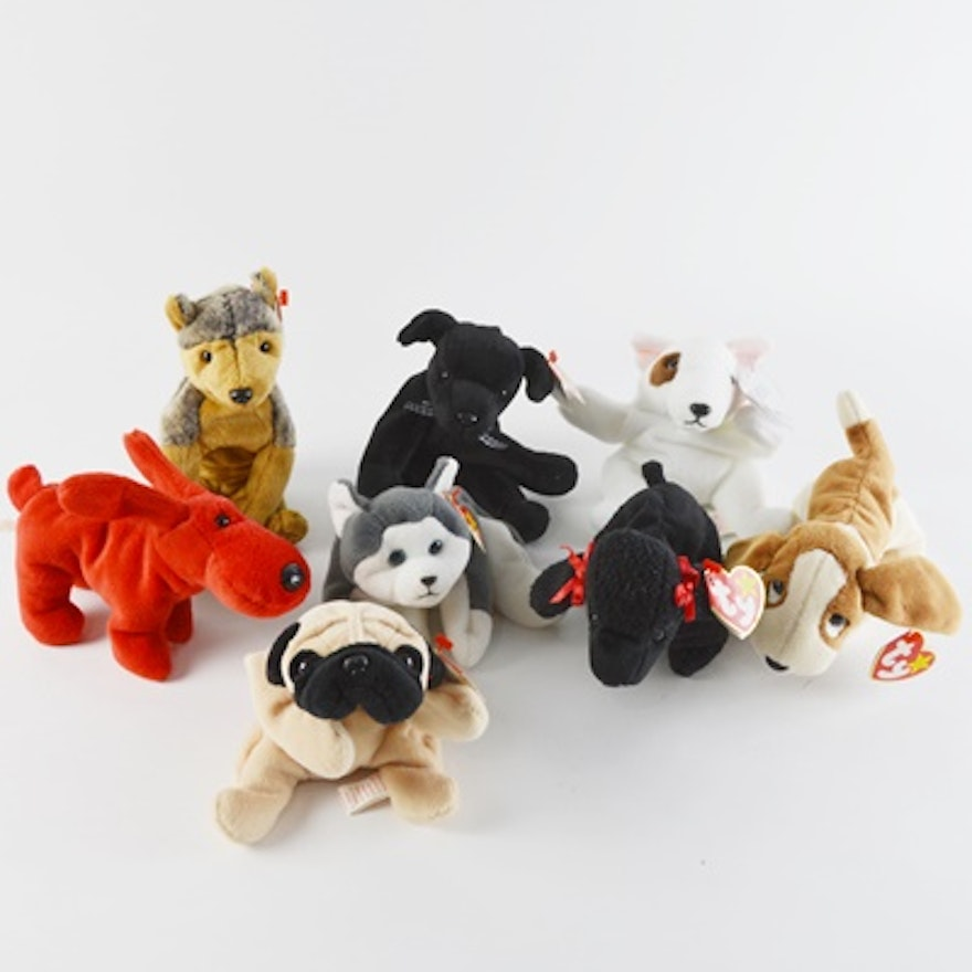 7e4636b0788 Ty Beanie Baby Collection of Eight Dogs