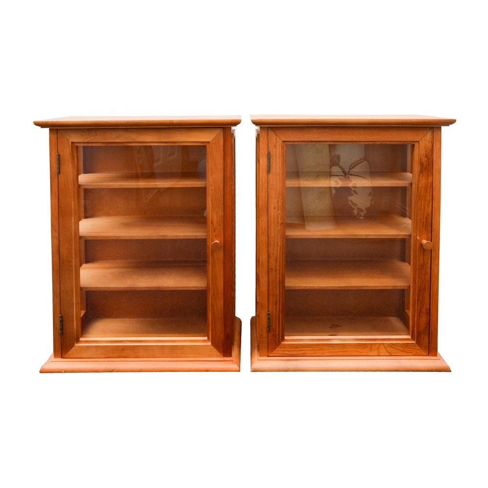 Two Small Wood Display Cases