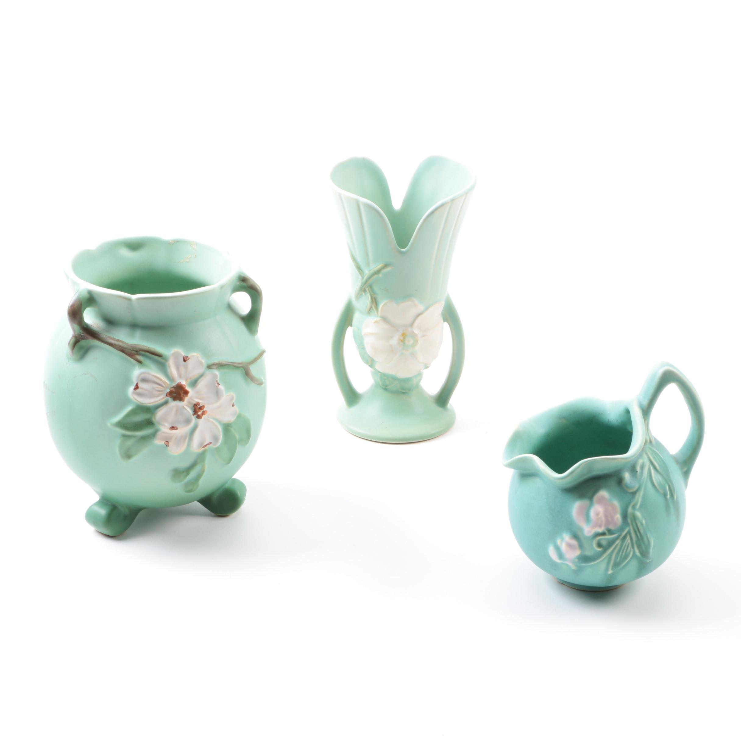 Weller Pottery Vases and Pitcher