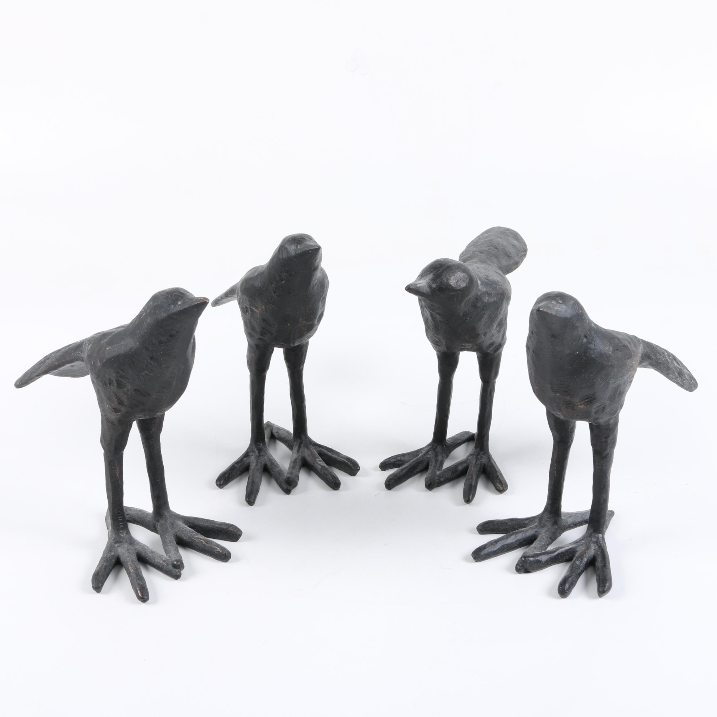 Wooden Bird Figurines