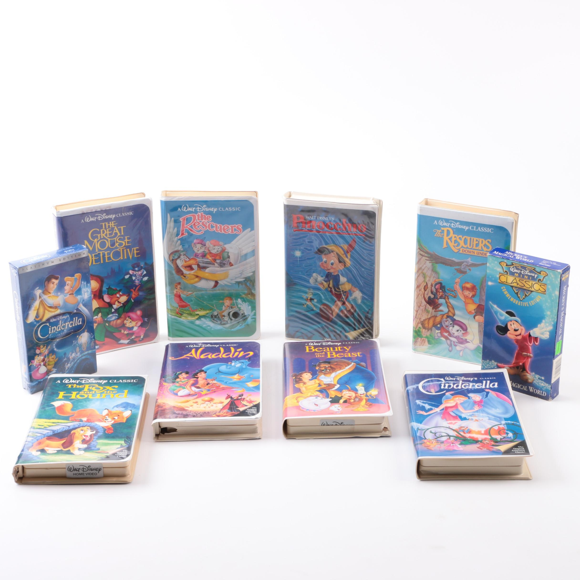 """""""Cinderella"""" and Other Disney VHS Tapes"""