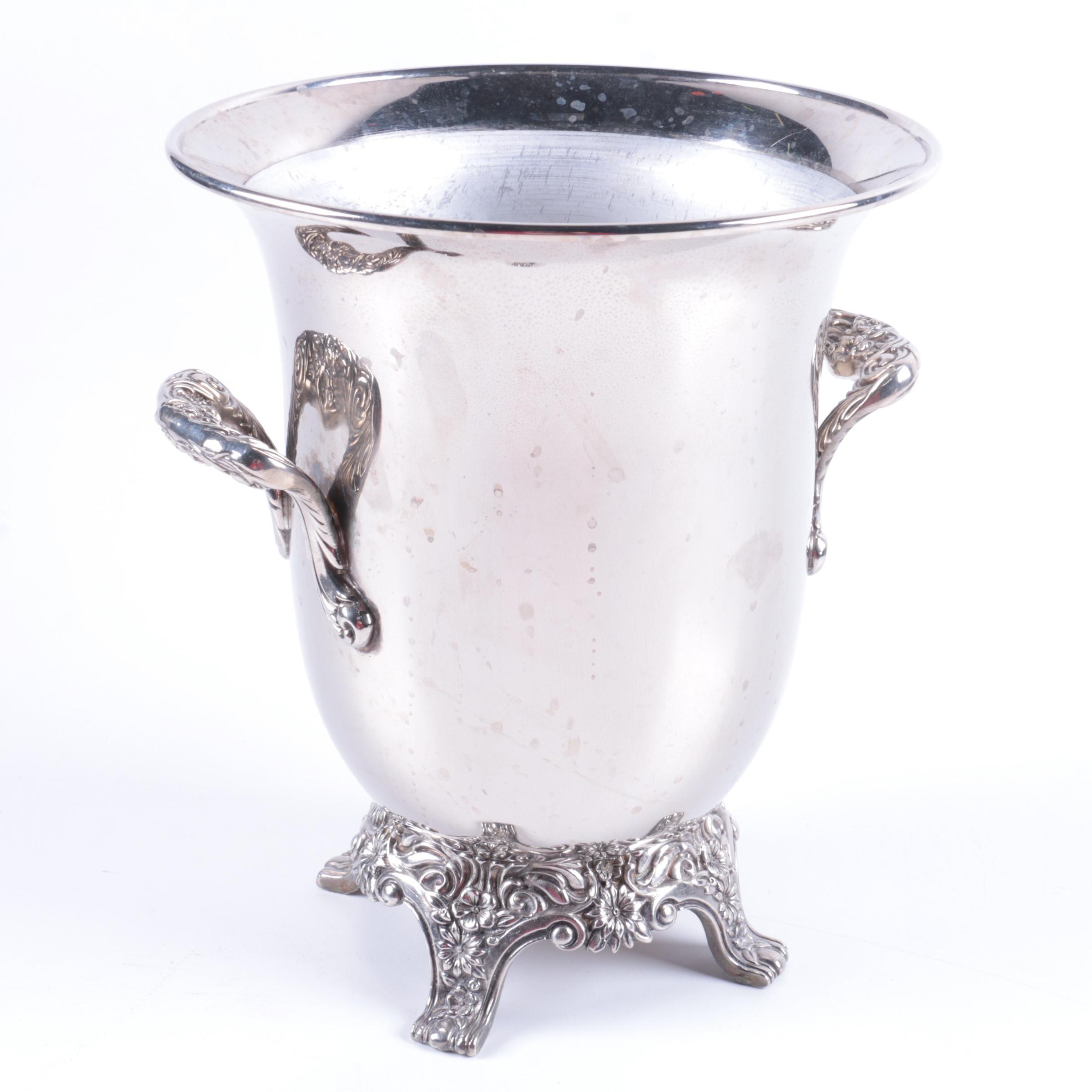 Reed & Barton Silver Plate Foliate Ice Bucket