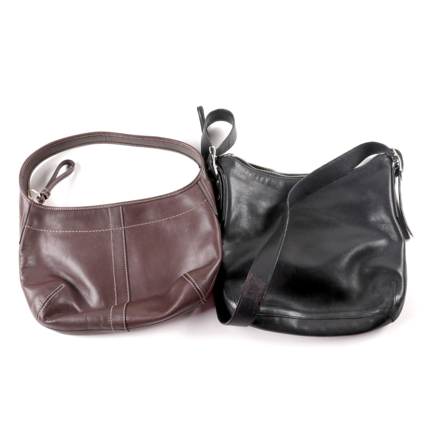 2ed80535412 Coach Legacy Slim Duffle Leather Crossbody and Ergo Small Leather Shoulder  Bag ...
