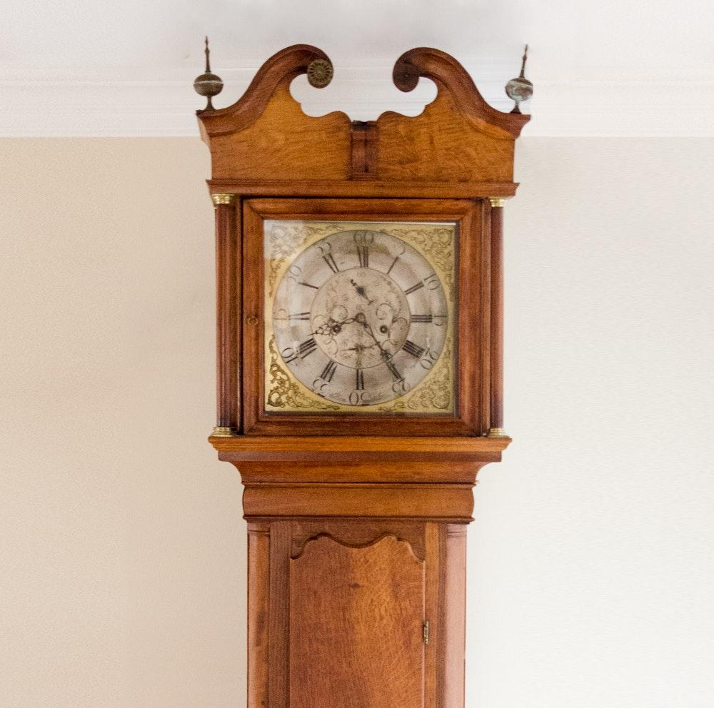 Antique George III Oak Longcase Clock by William Watson,  Late 18th C.