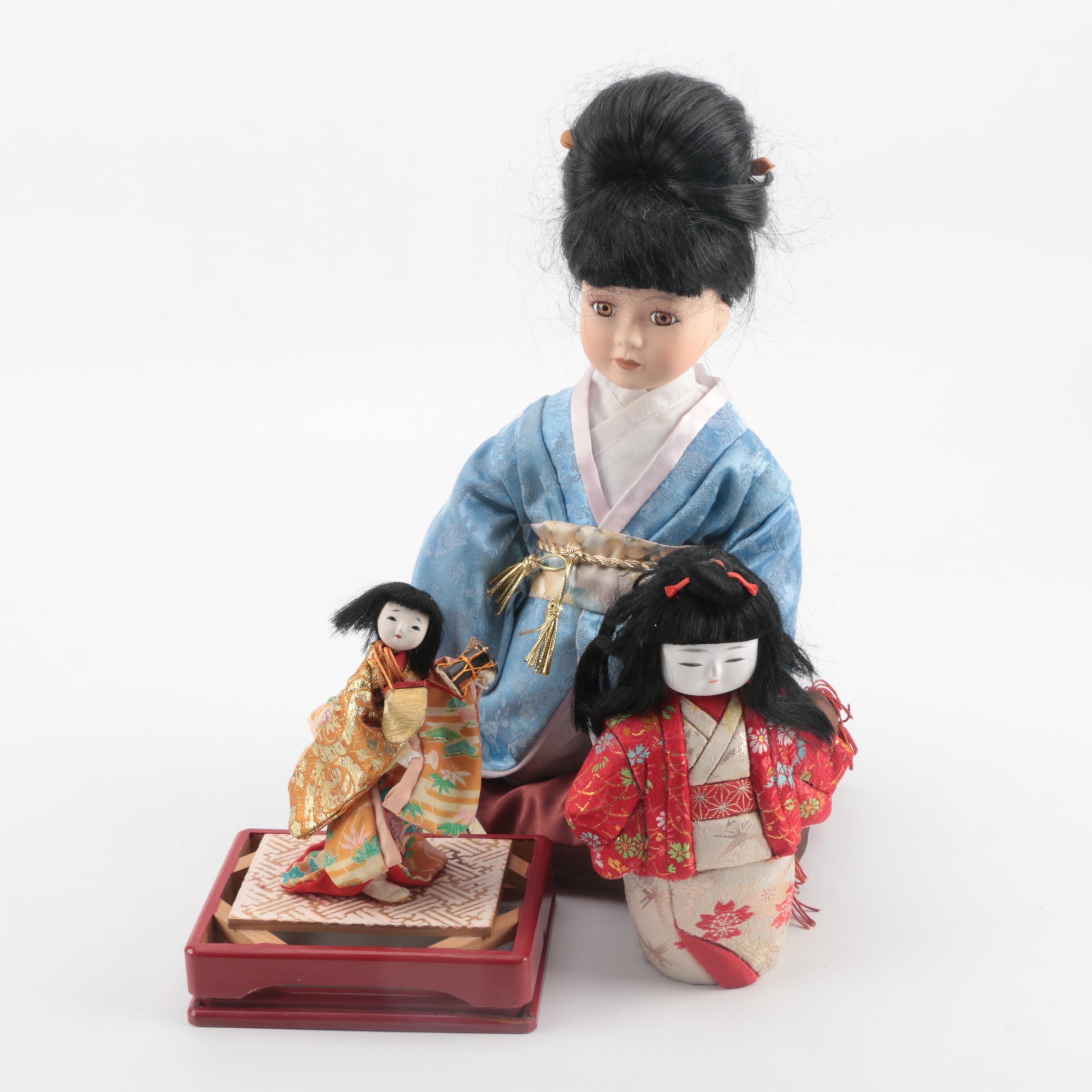 Japanese Inspired Porcelain Dolls