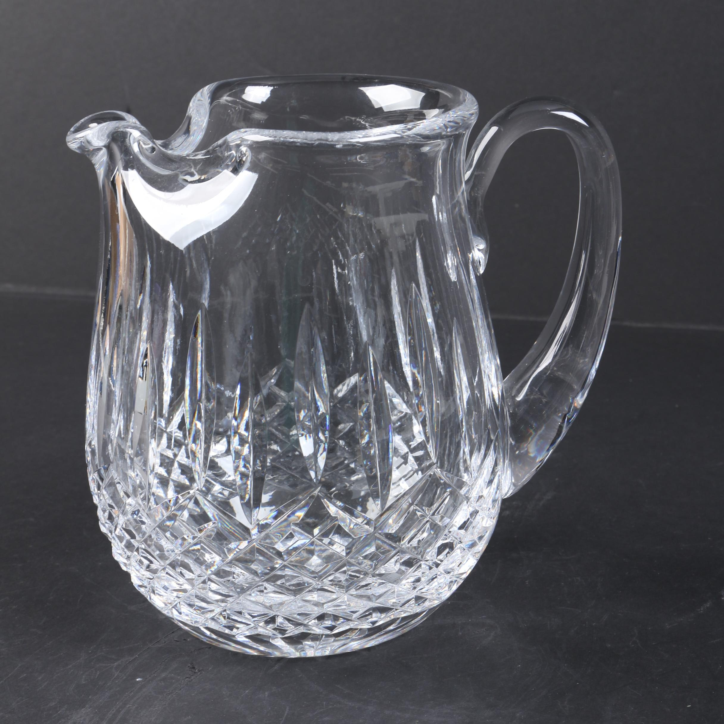 "Waterford Crystal ""Lismore"" Ice Water Pitcher"