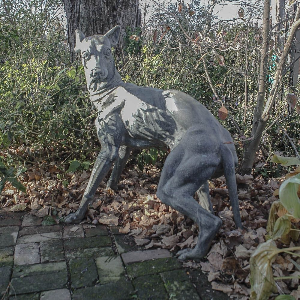 Cast Metal Garden Statue Of A Greyhound ...