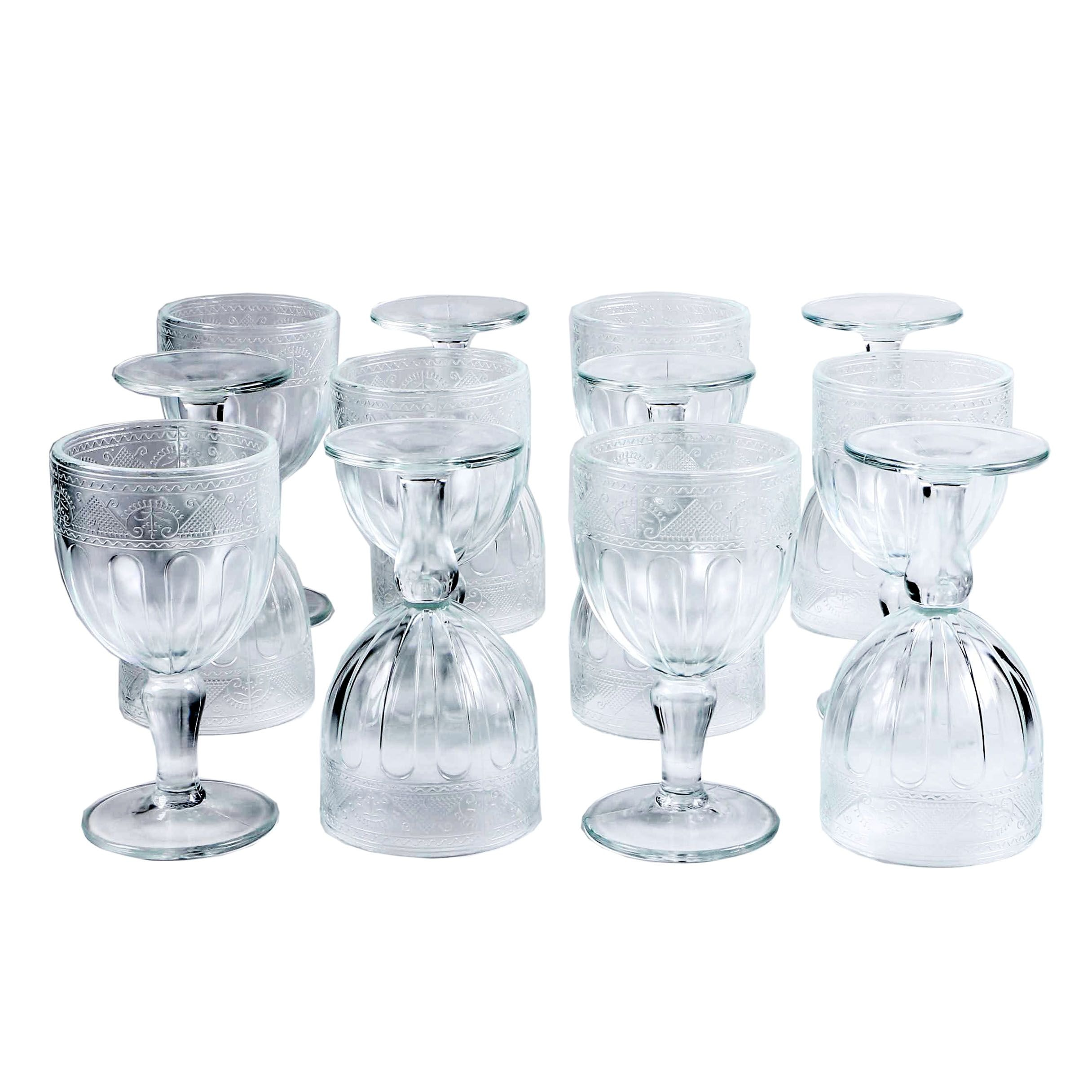 "Ralph Lauren ""Emma"" Pressed Crystal Water Goblets"