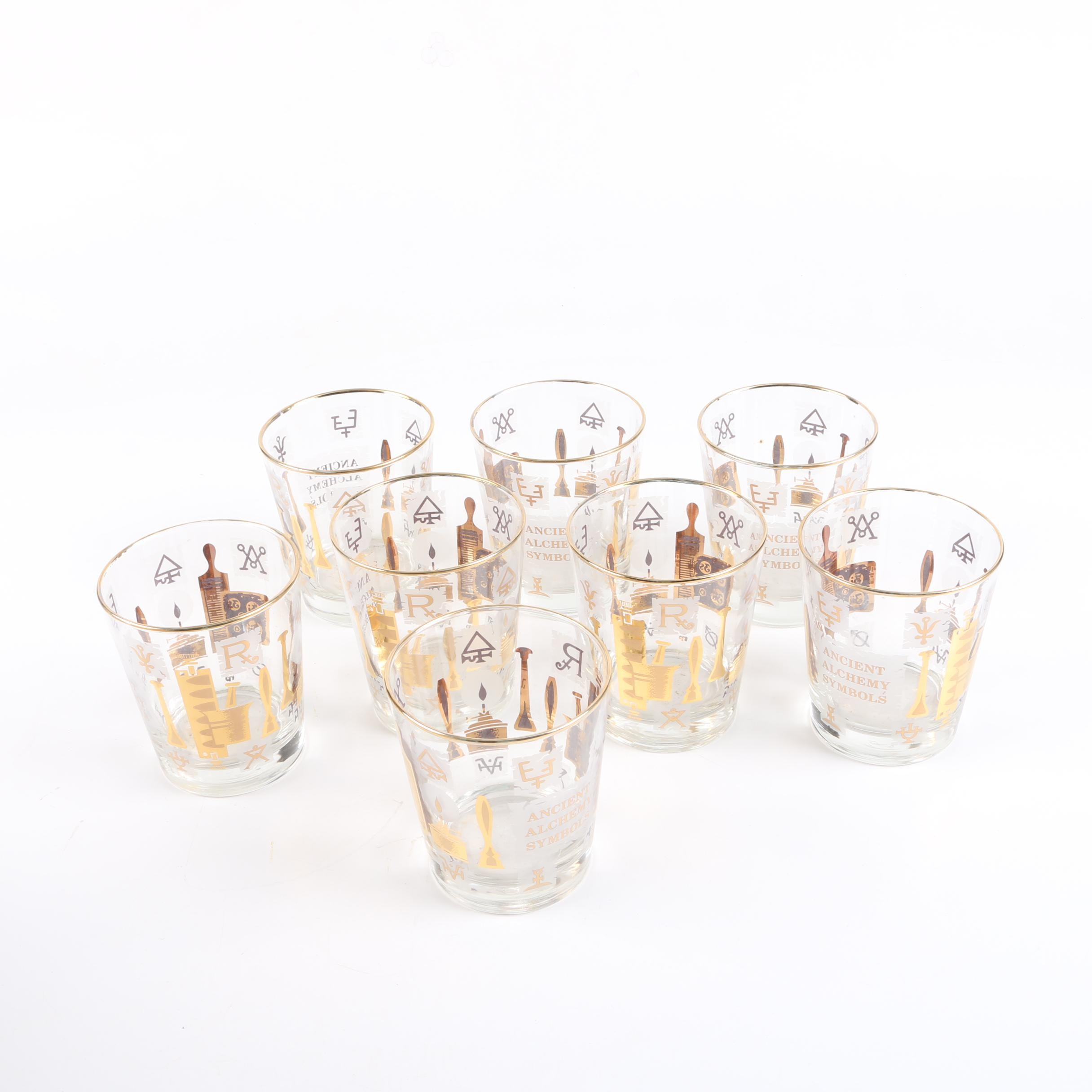 "Libbey ""Ancient Alchemy Symbols"" Glassware"