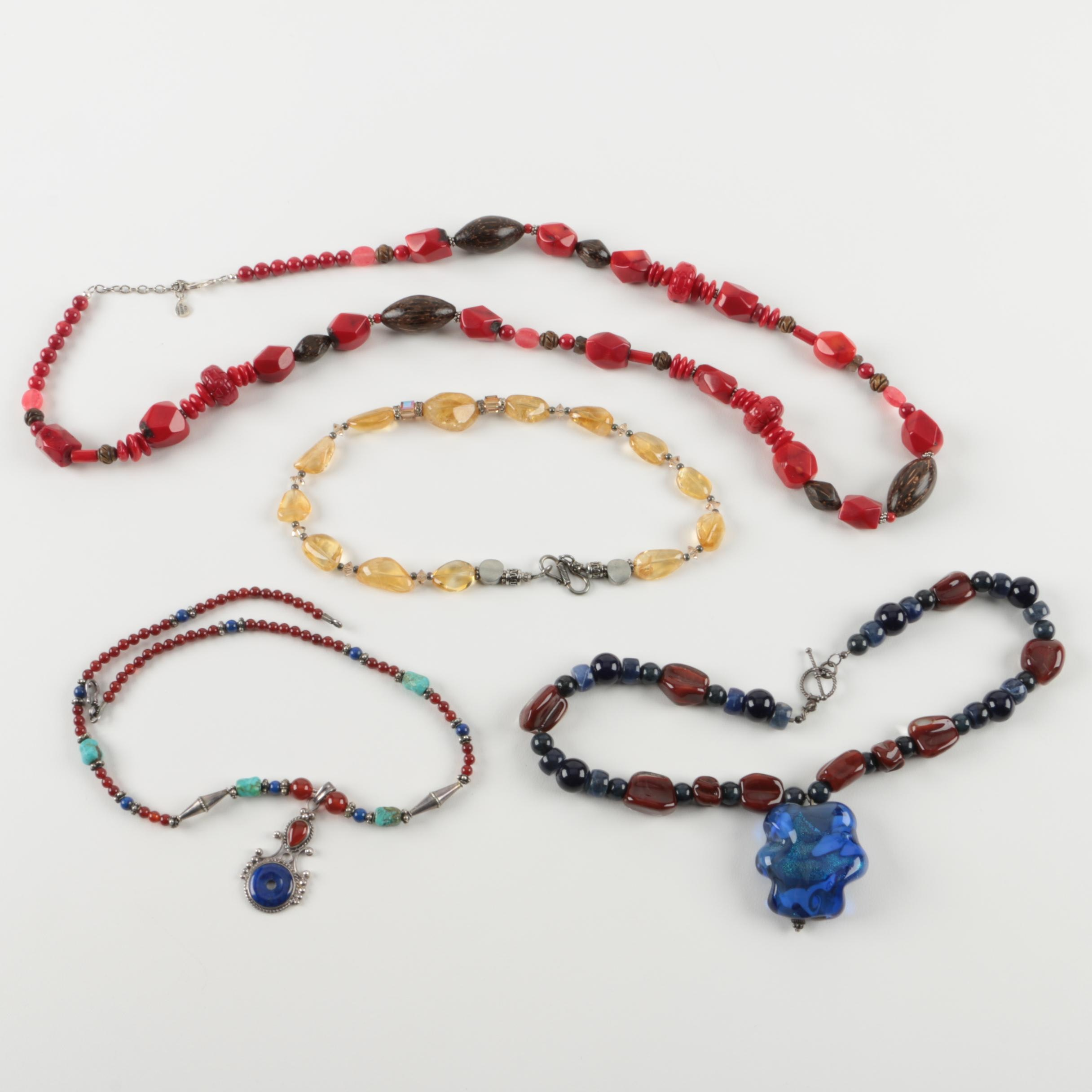 Sterling Silver and Beaded Necklaces