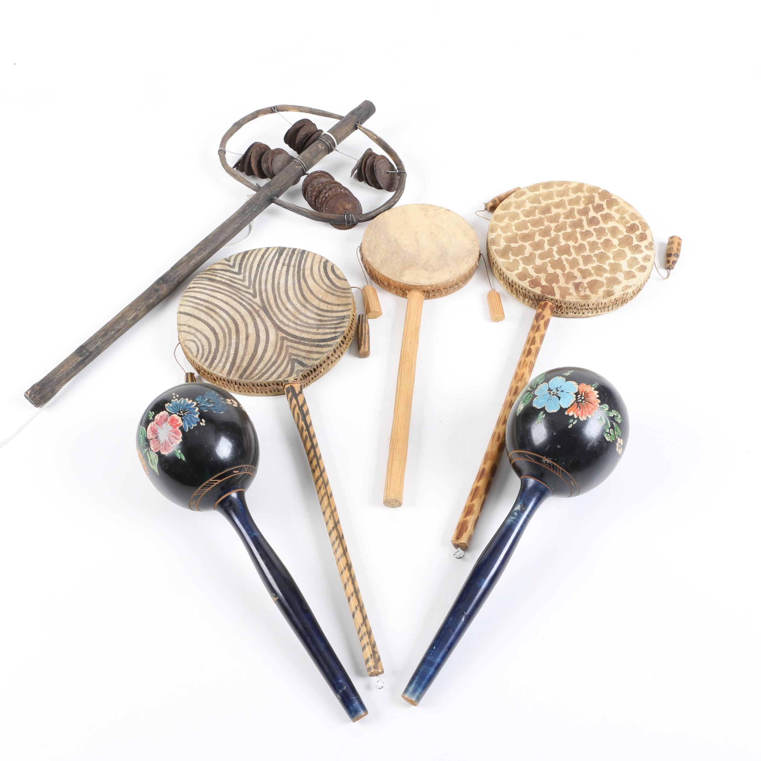 Maracas, Spin Drums and Sistrum