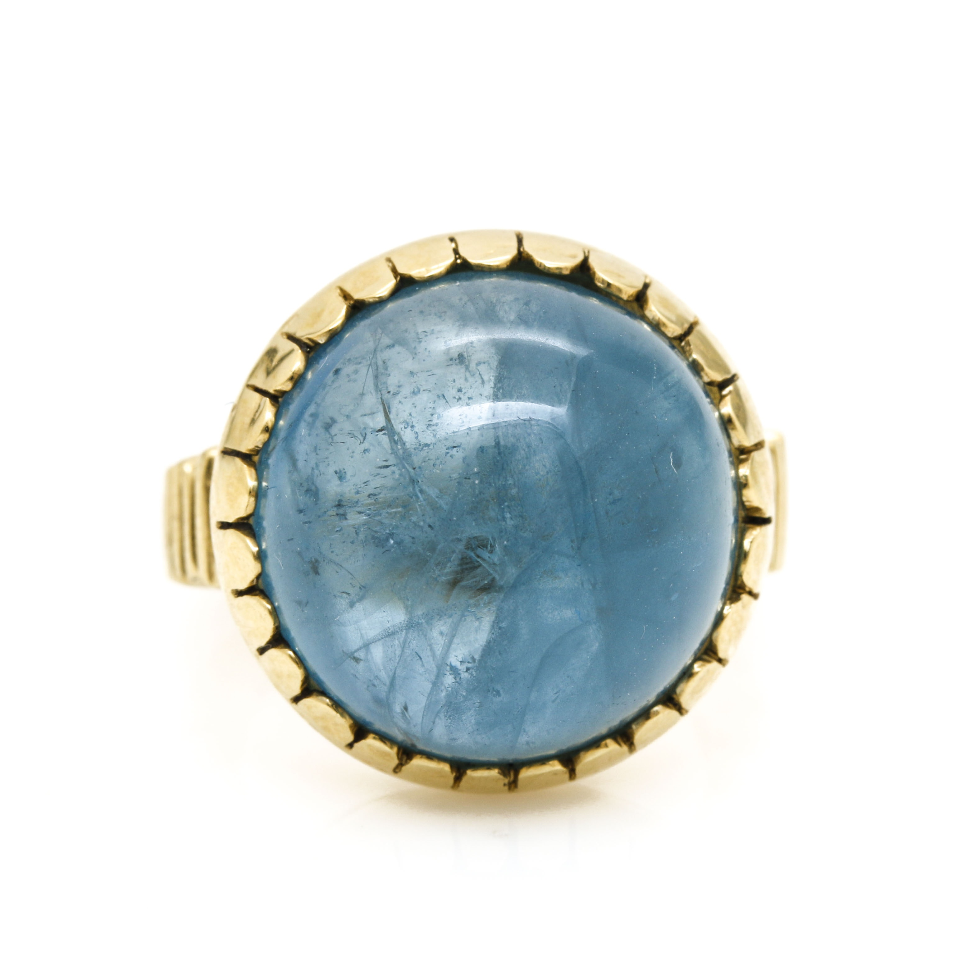 18K Yellow Gold Aquamarine Ring