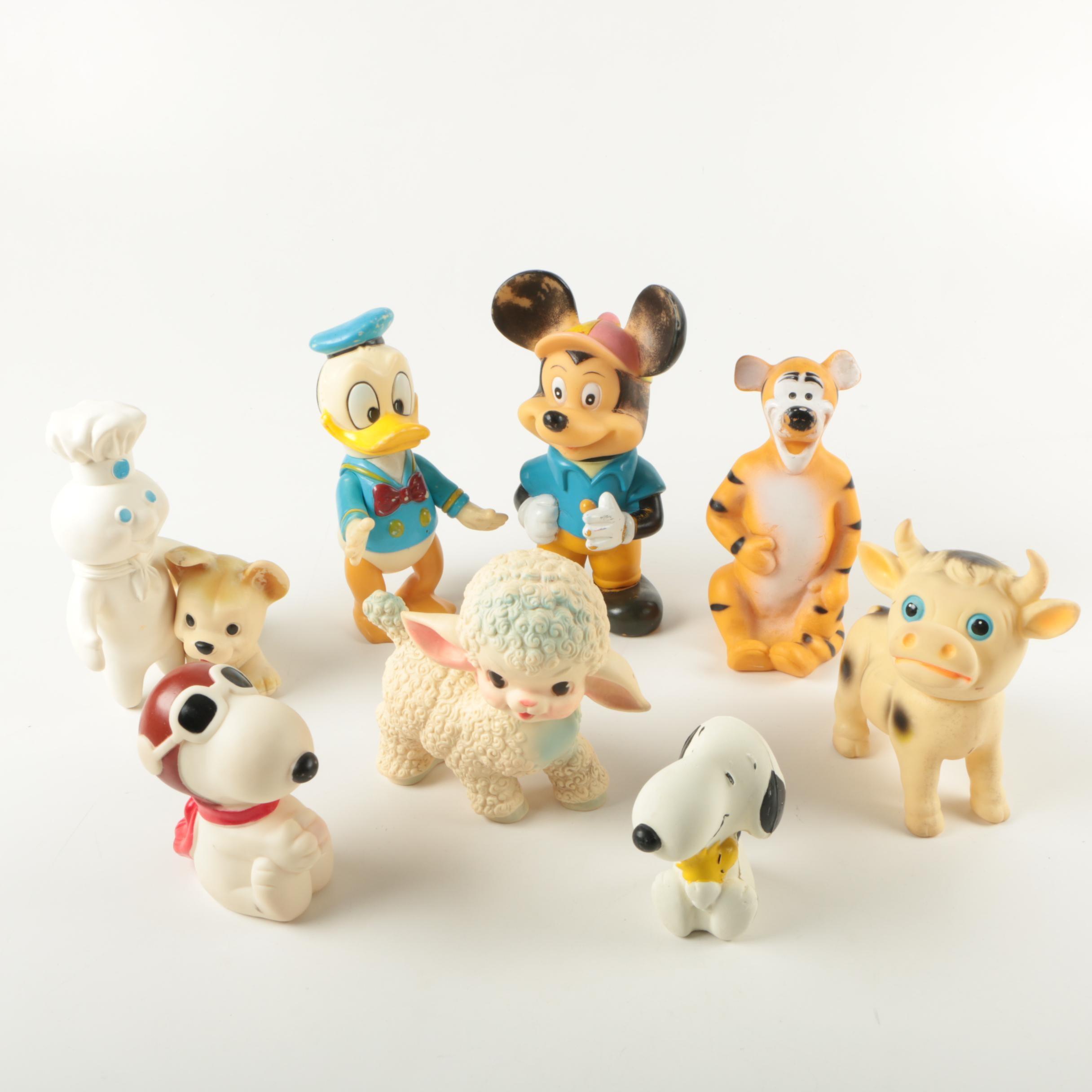Assorted Rubber Squeak-Toys Featuring Disney