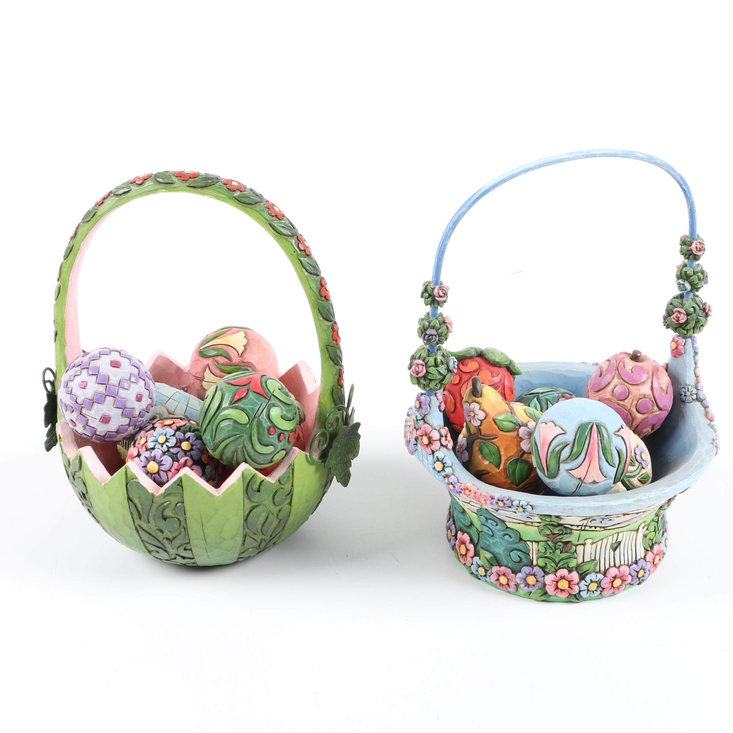 Jim Shore Decorative Easter Baskets
