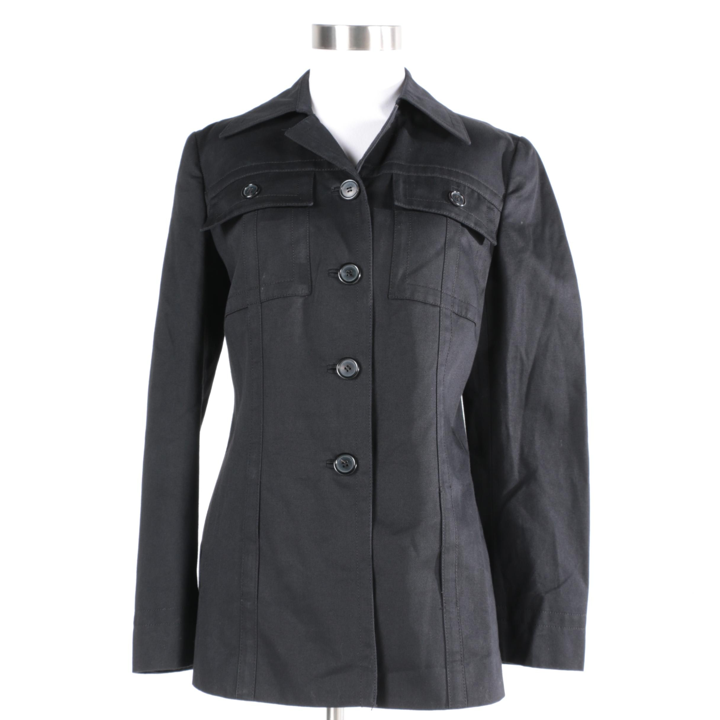 Women's Prada Black Cotton Jacket