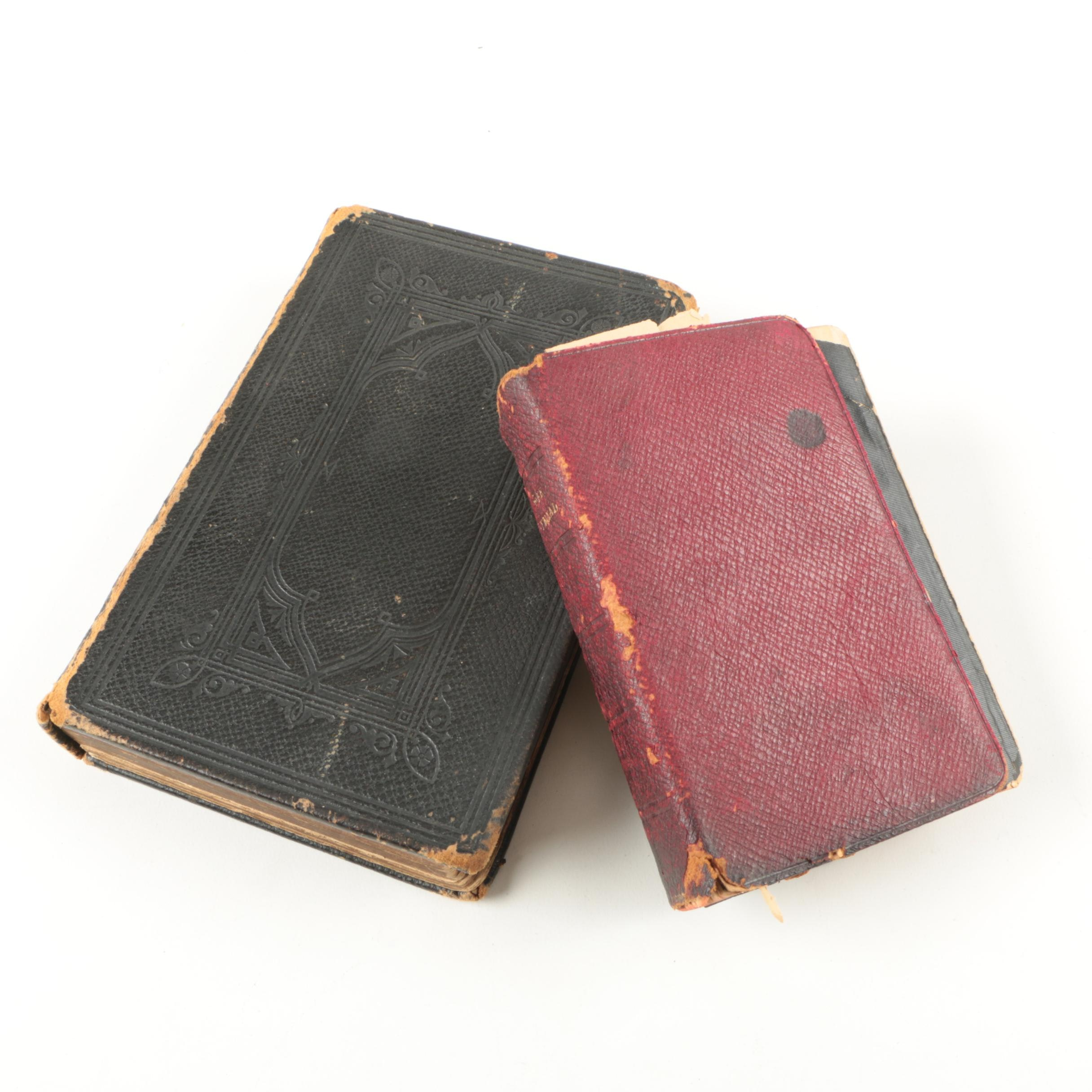 Pair of Antique Bibles