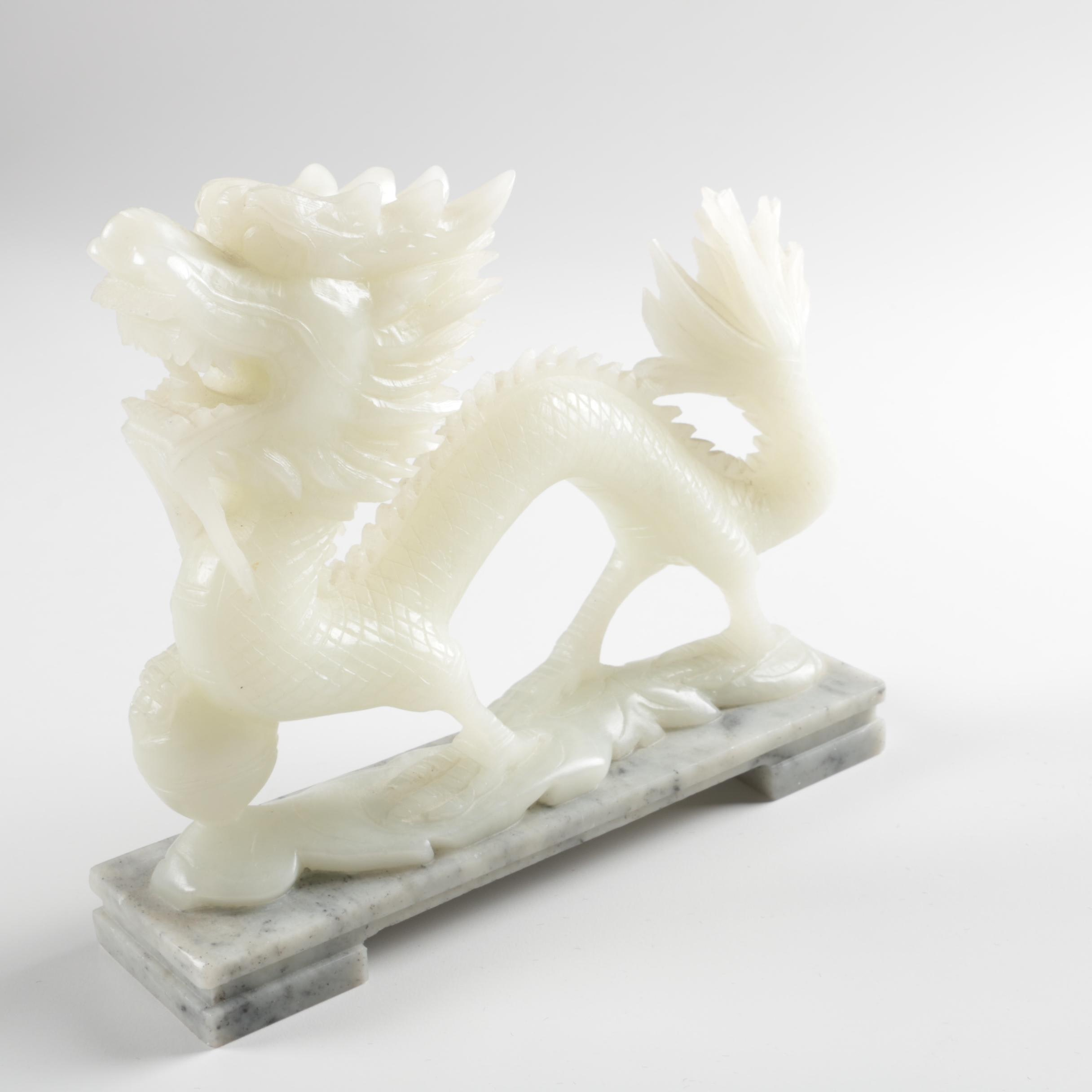 East Asian Style Soapstone Dragon Sculpture