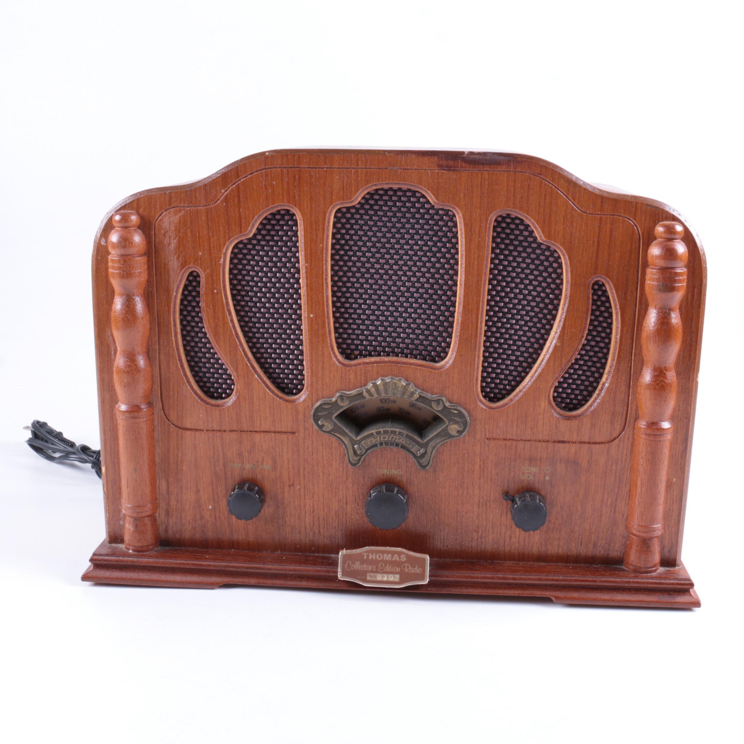Vintage Thomas Collector's Edition Radio