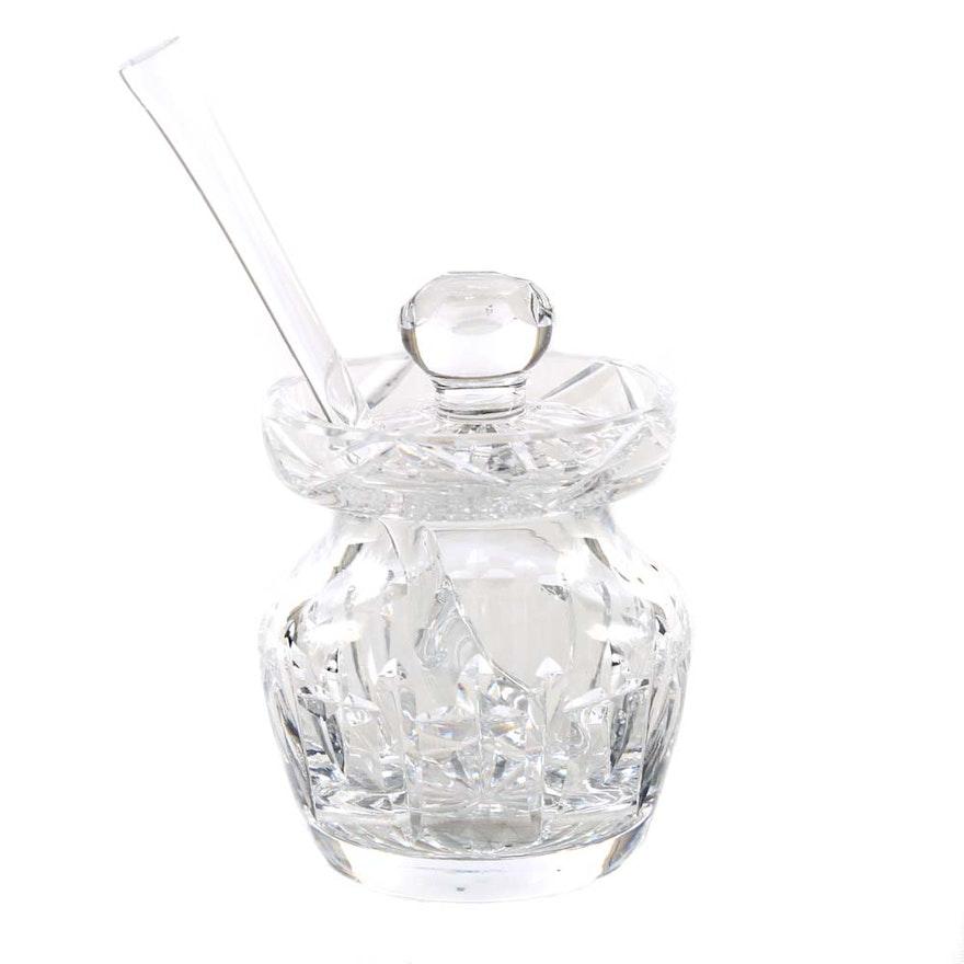 Waterford Crystal Lismore Honey Jar And Spoon