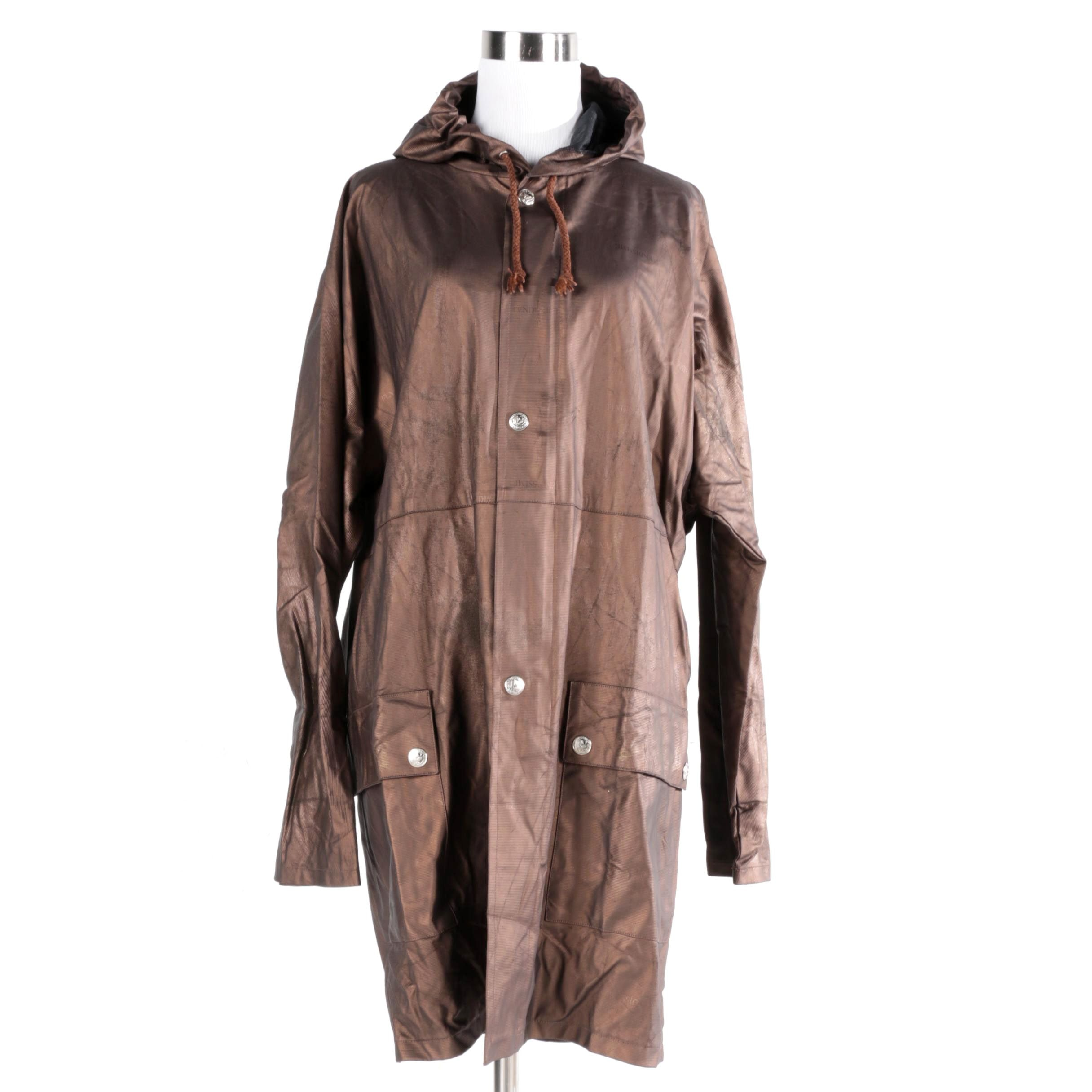 Men's Fendissime Brown Poly Blend Raincoat