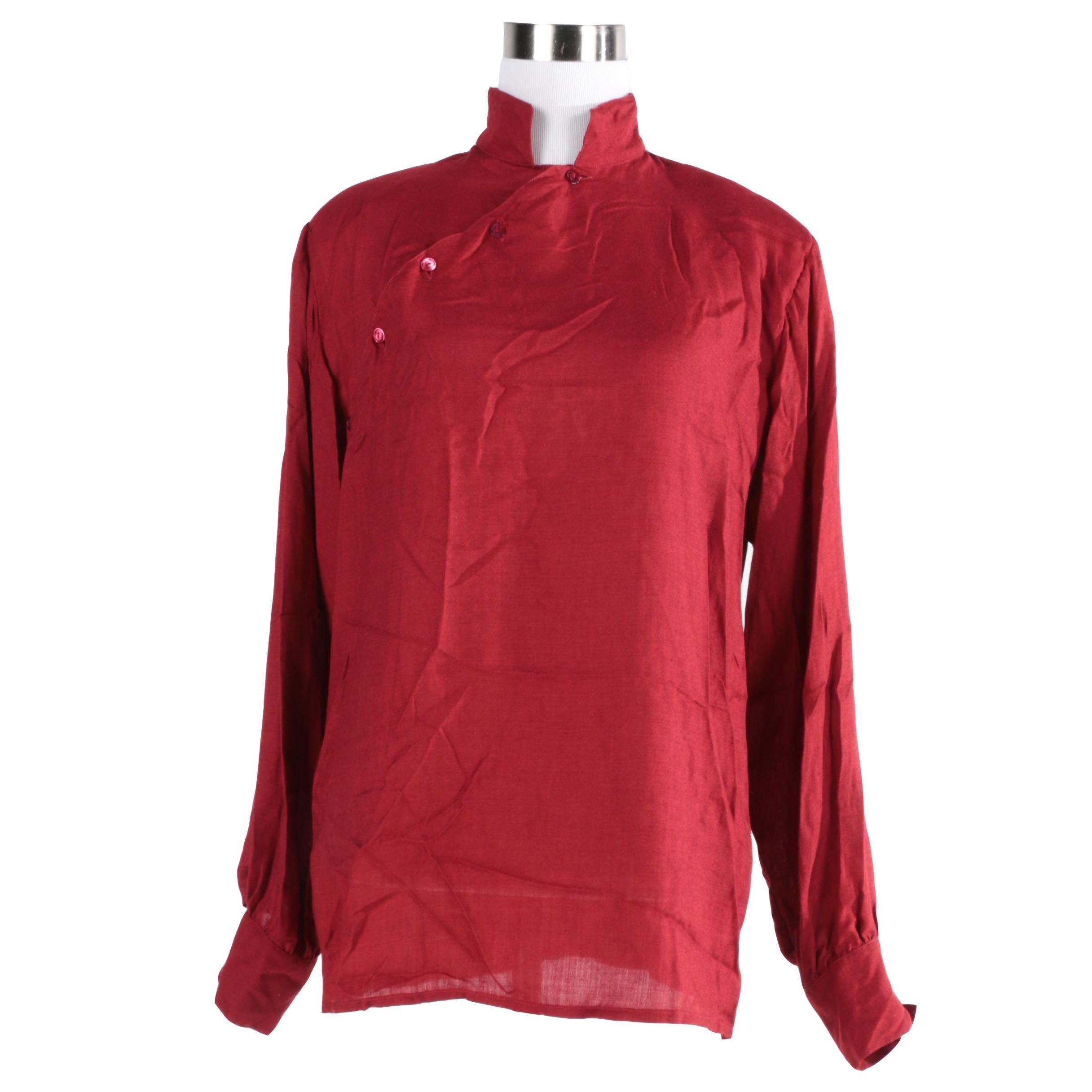 Vintage G. Gucci Silk-Cashmere Blouse