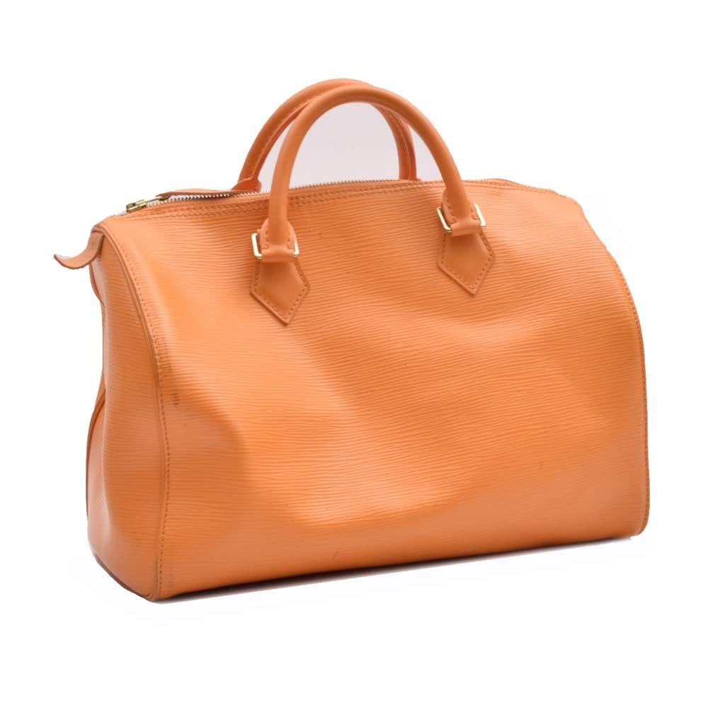 Louis Vuitton Mandarin Epi Speedy 30 Handbag