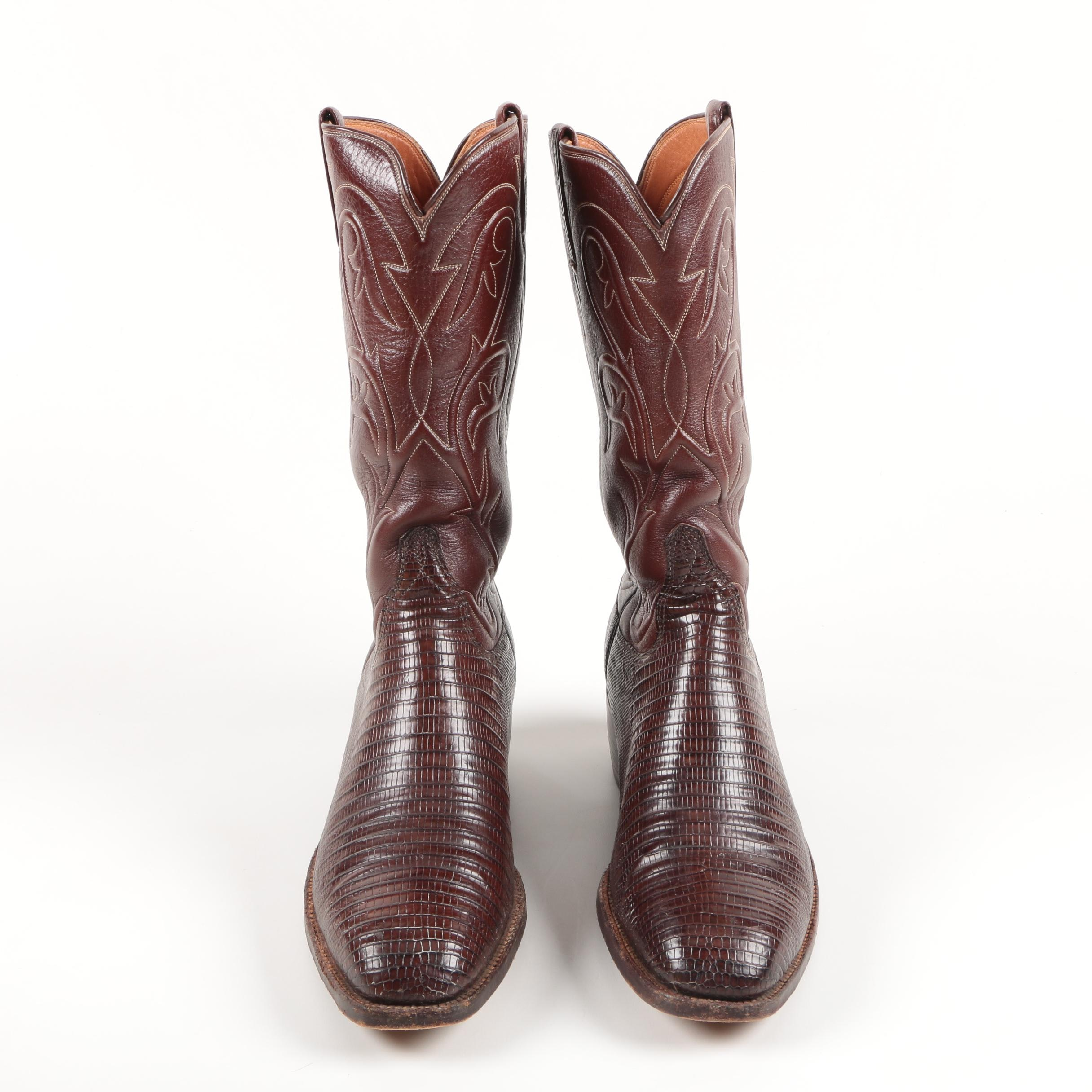 Luchese Chocolate Lizard Boots