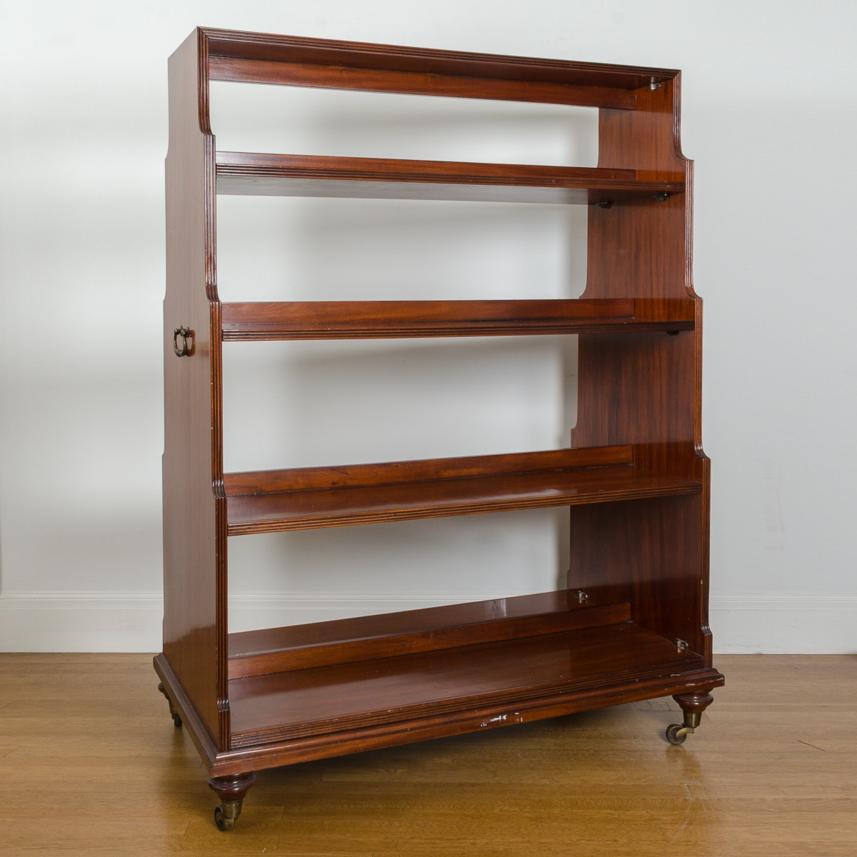 Double Sided Wooden Bookcase