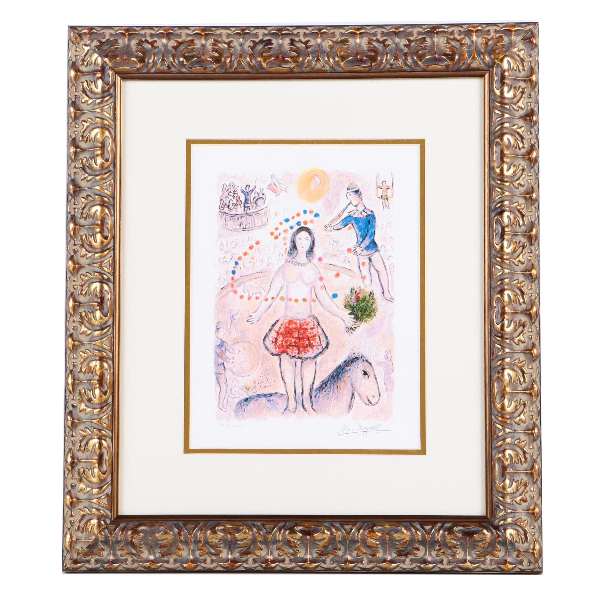 "Limited Edition Giclee After Marc Chagall ""Dancer And Flutist"""