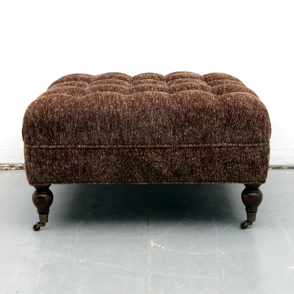 Tufted Ottoman on Casters
