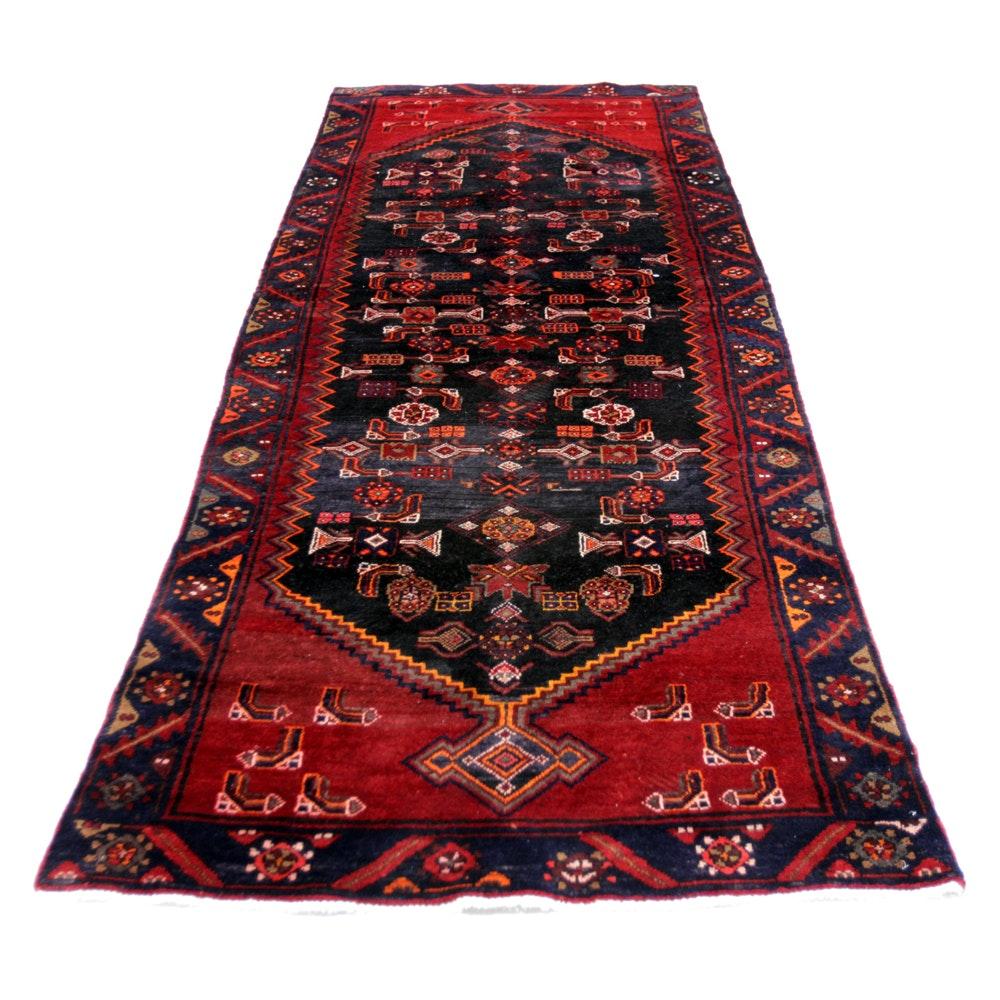 Hand-Knotted Persian Kurdish Bijar Wool Carpet Runner