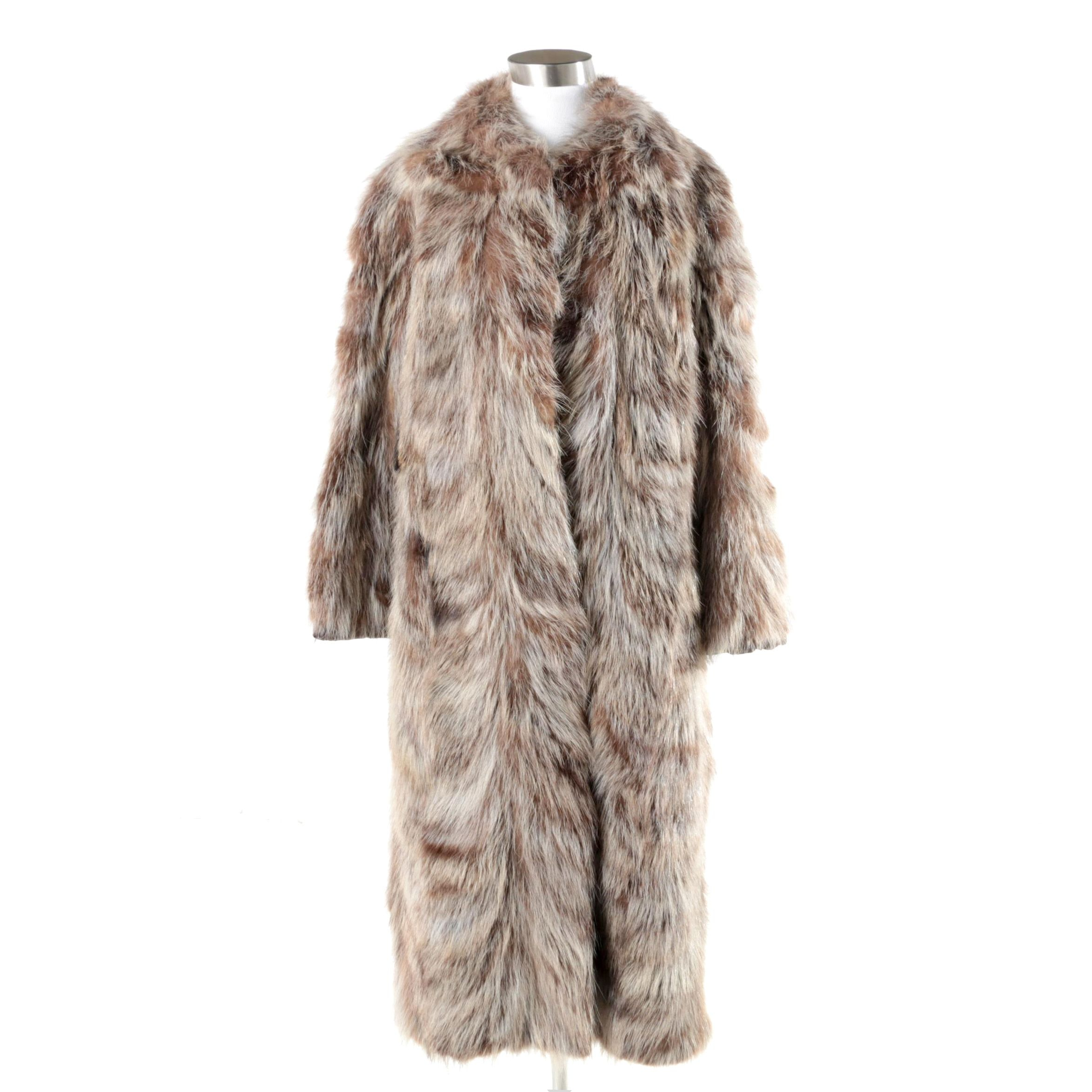 Women's Raccoon Fur Coat