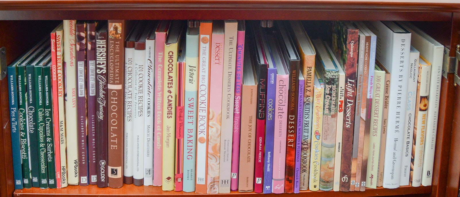 Assortment of Baking and Sweets Cookbooks