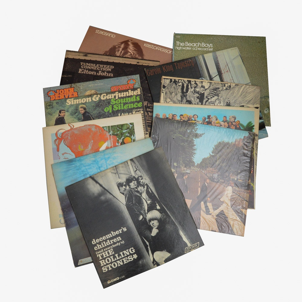 The Beatles, The Beach Boys, Carole King and Other Classic Rock LPs