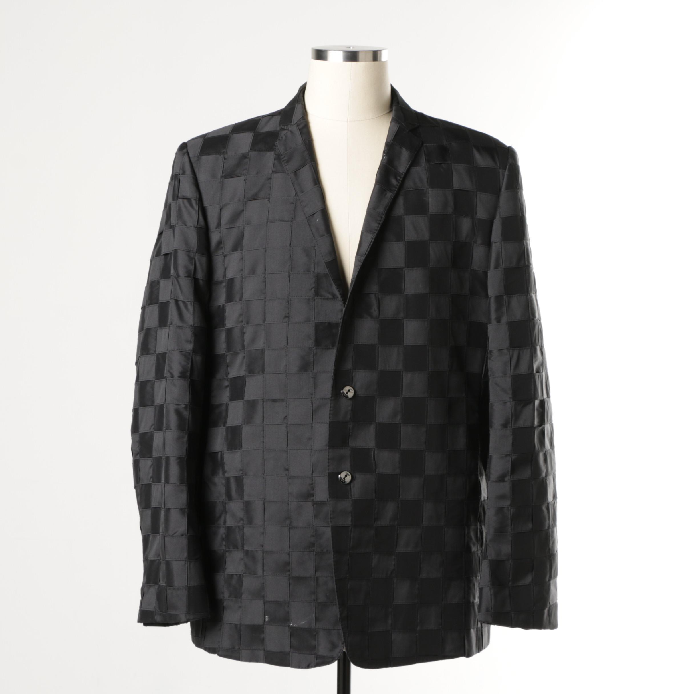 Men's Masatomo Black Suit Jacket