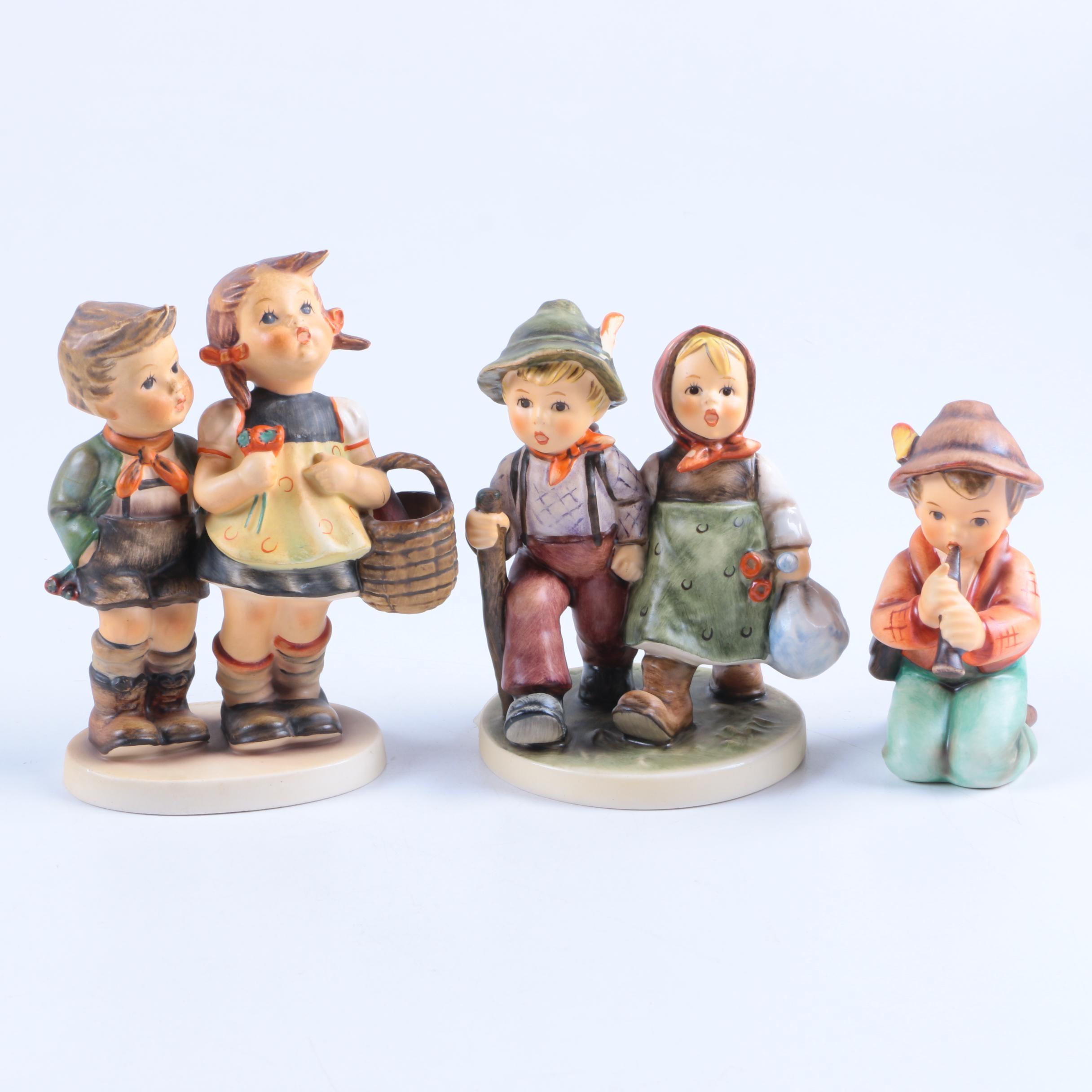 "Hummel ""Going Home"", ""Shepherd Boy Kneeling"" and ""To Market"" Figurines"