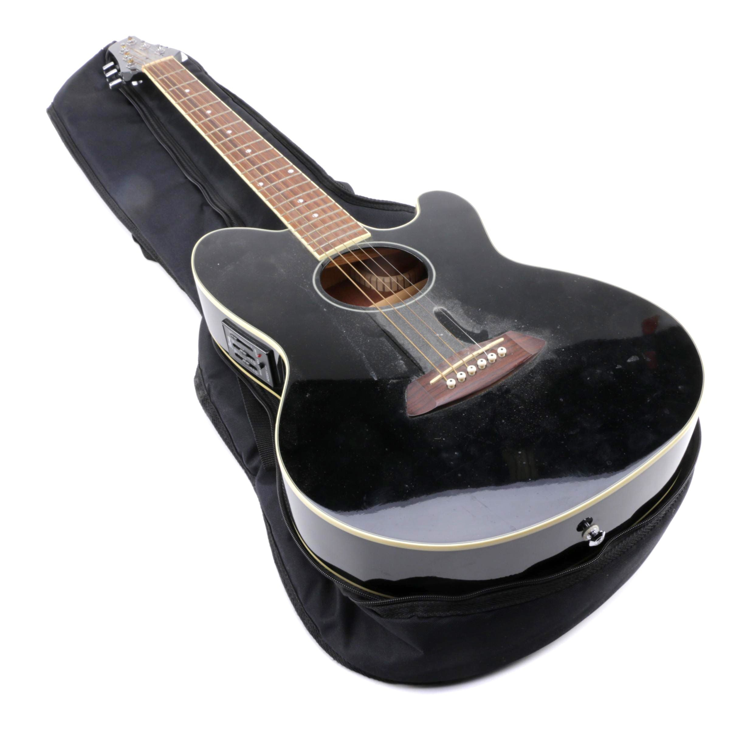 Priority Ibanez Talman Acoustic Electric Guitar And Case Ebth