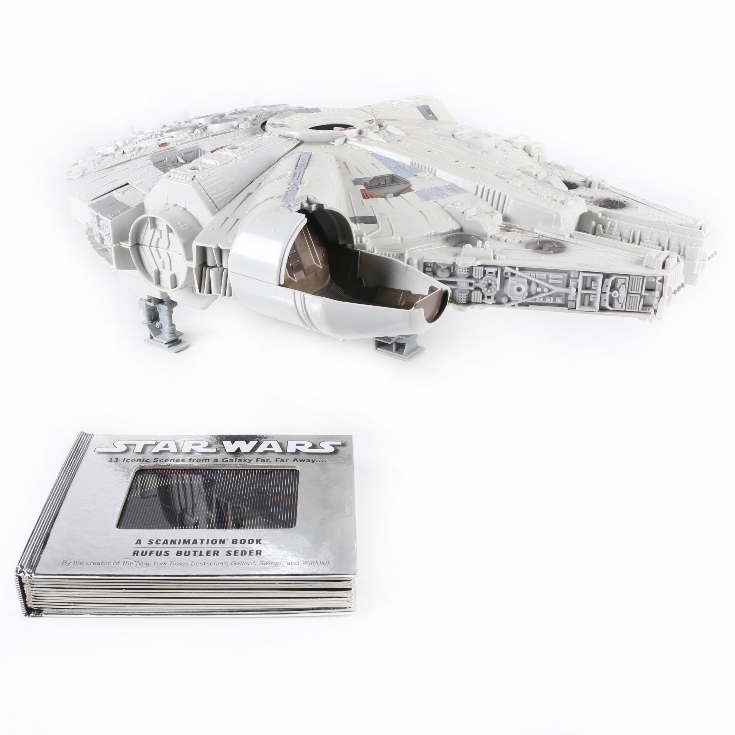 Star Wars Millennium Falcon Play Set and 2010 Scanimation Book