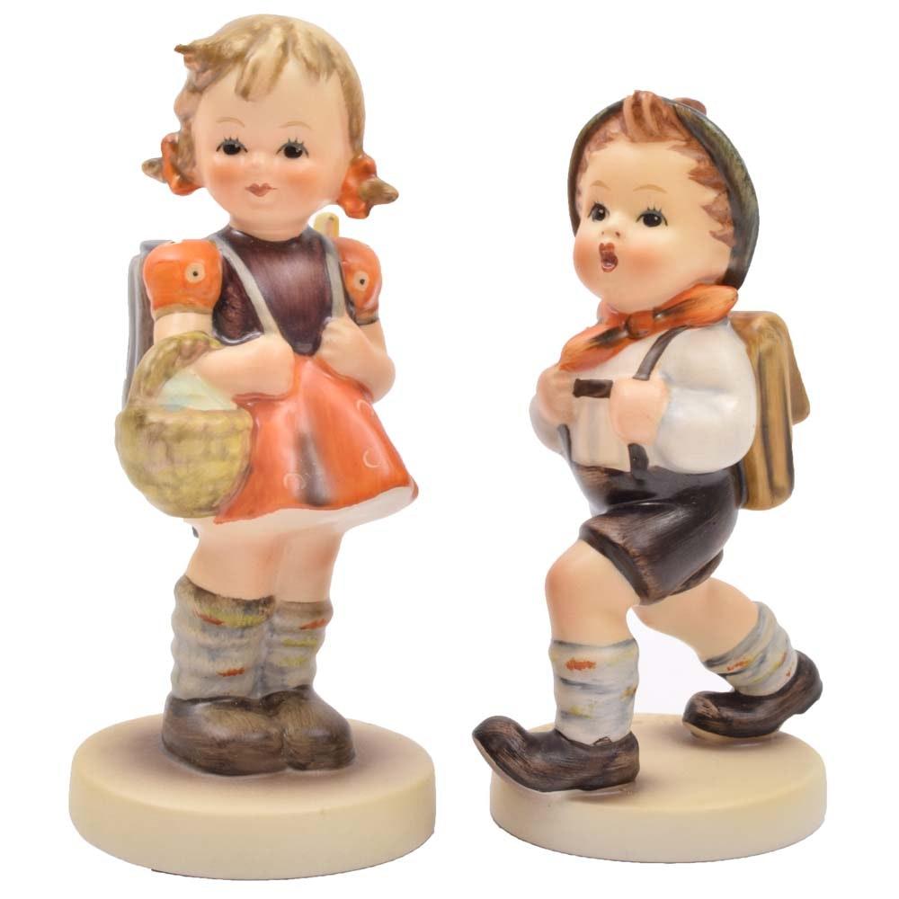 "Hummel Figurines ""School Boy"" and ""School Girl"""