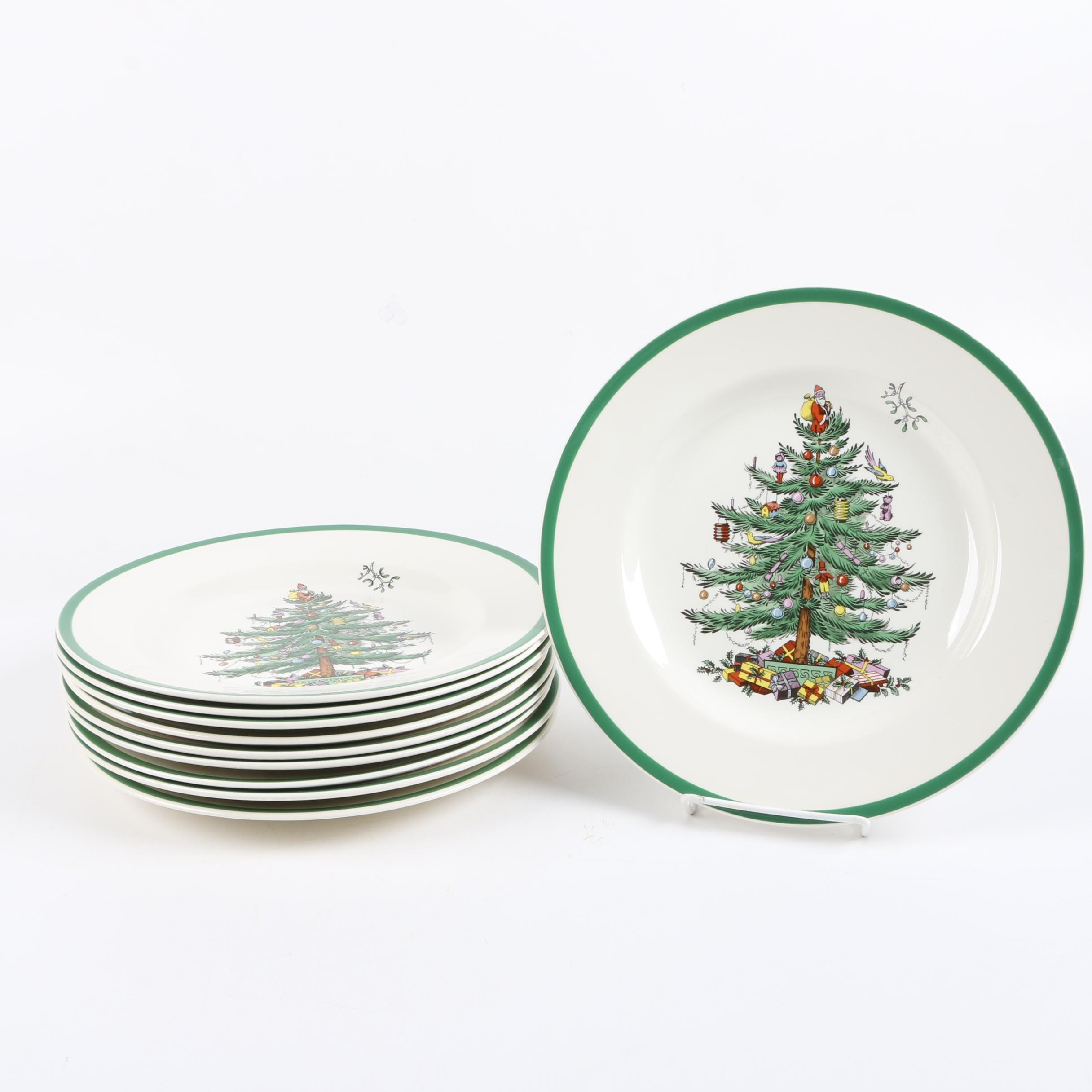"Spode ""Christmas Tree"" Dinner Plates"