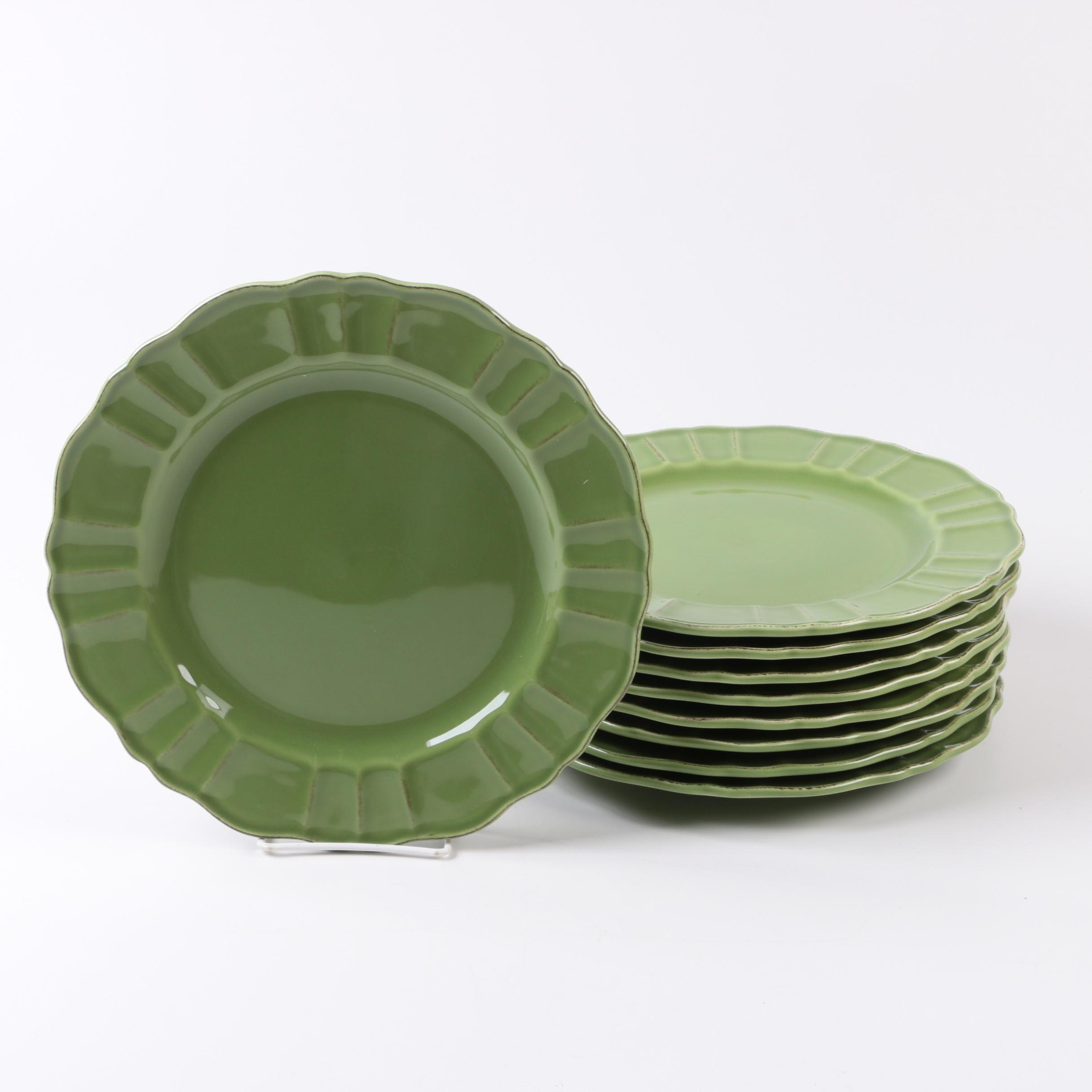 World Market Green Dinner Plates Made in Portugal ... & World Market Green Dinner Plates Made in Portugal : EBTH