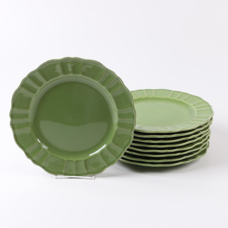 World Market Green Dinner Plates Made In Portugal
