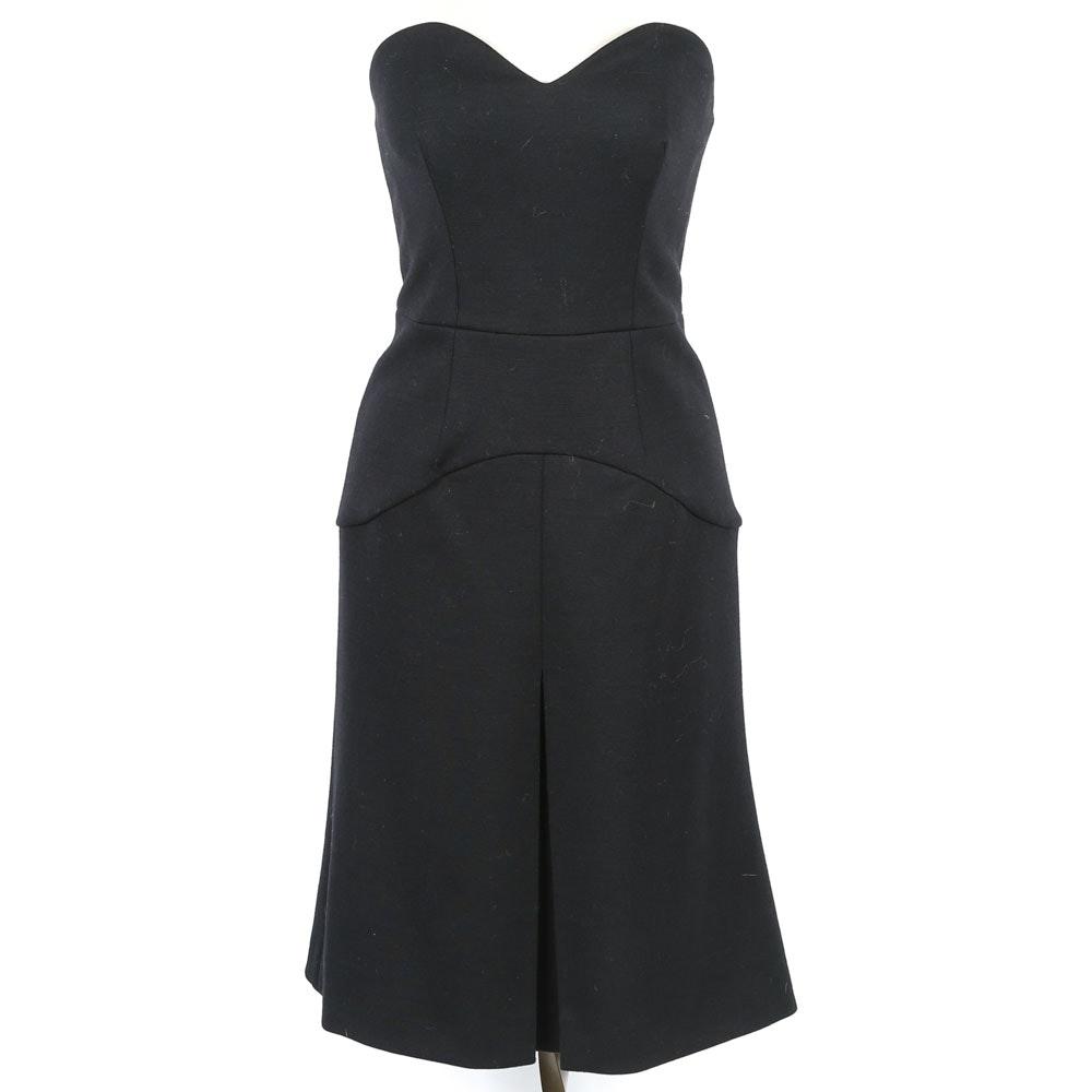 Prada Strapless Black Dress