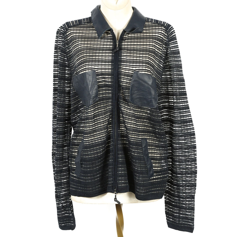 Giorgio Armani Sheer Zippered Jacket