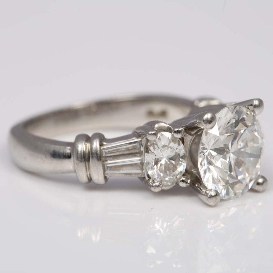 Scott Kay Platinum Five Diamond 0 18ct Wedding Band: Scott Kay Platinum 2.85 CTW Diamond Ring : EBTH