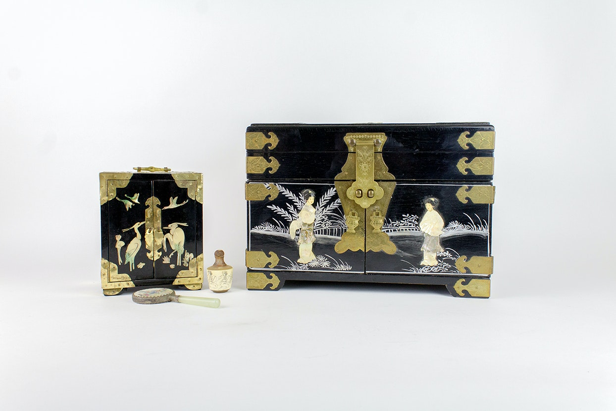 Asian Inspired Jewelry Boxes and Decor