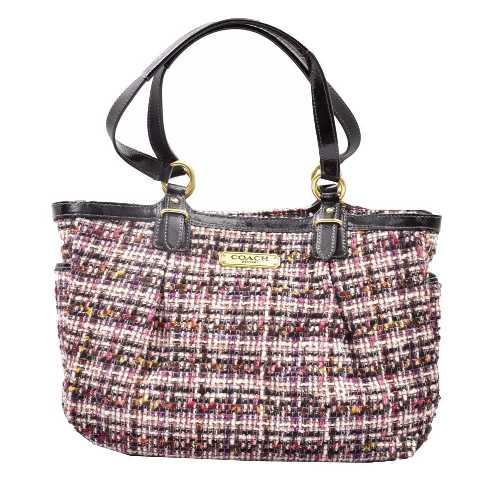 Coach Gallery Tweed Handbag