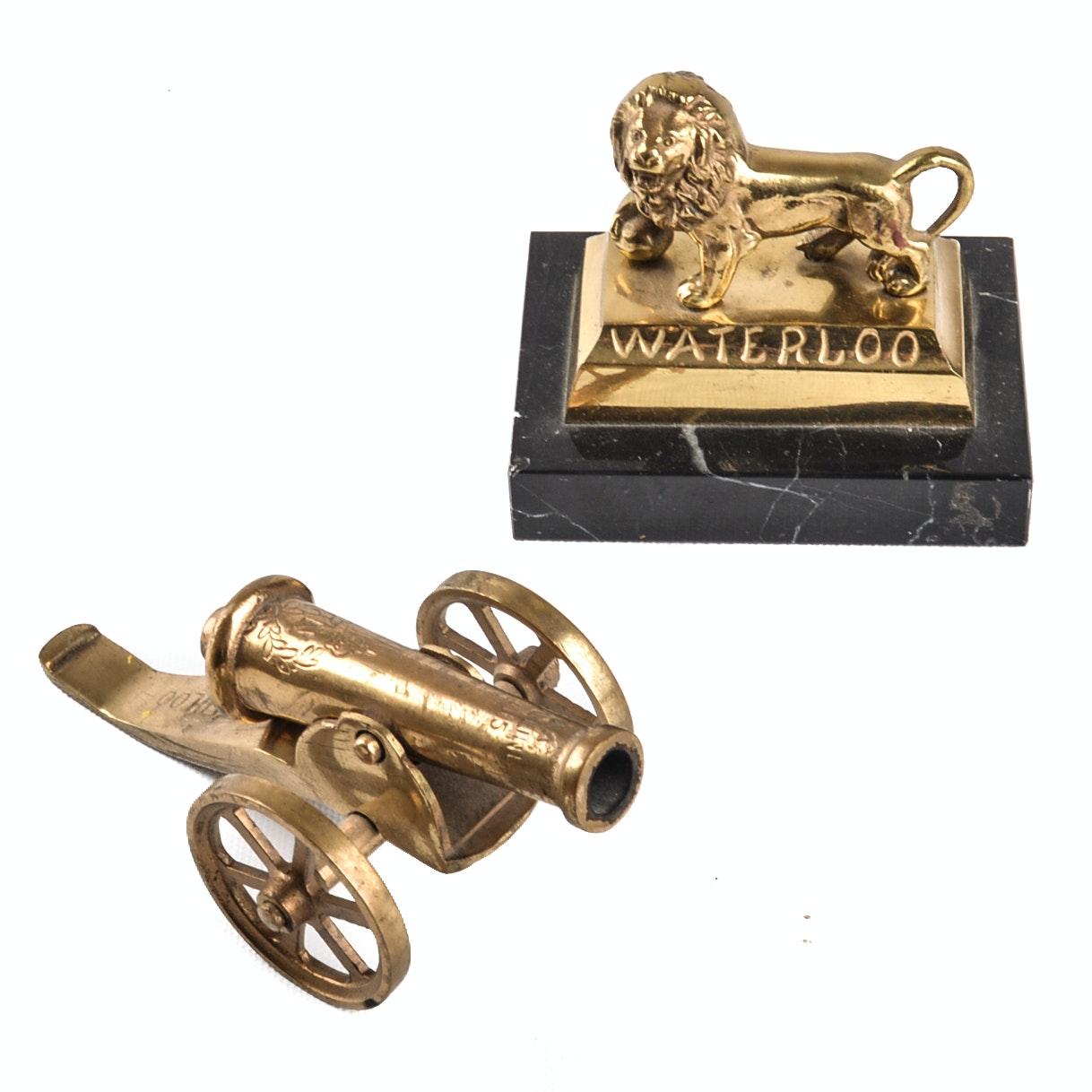 Vintage Brass Battle of Waterloo Decoratives