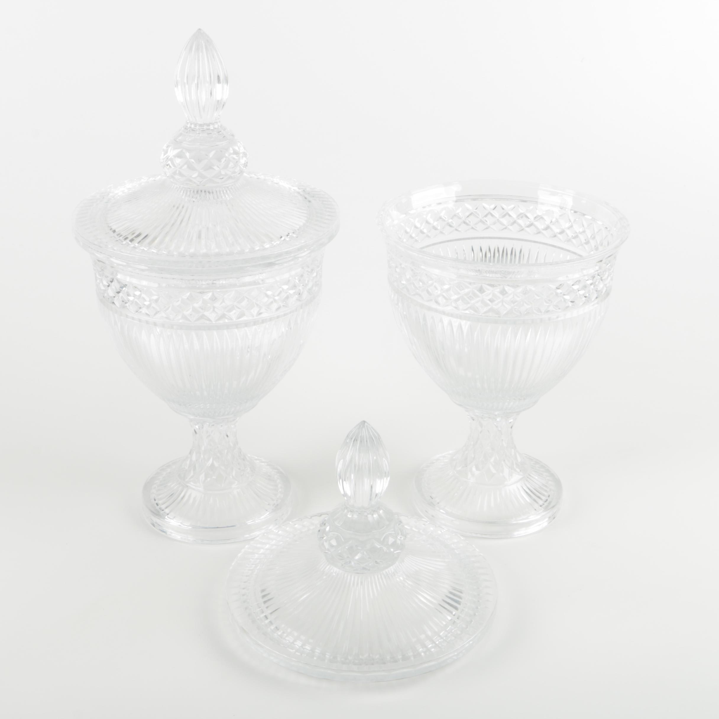 "Fifth Avenue Crystal ""Estate"" Lidded Candy Dishes"