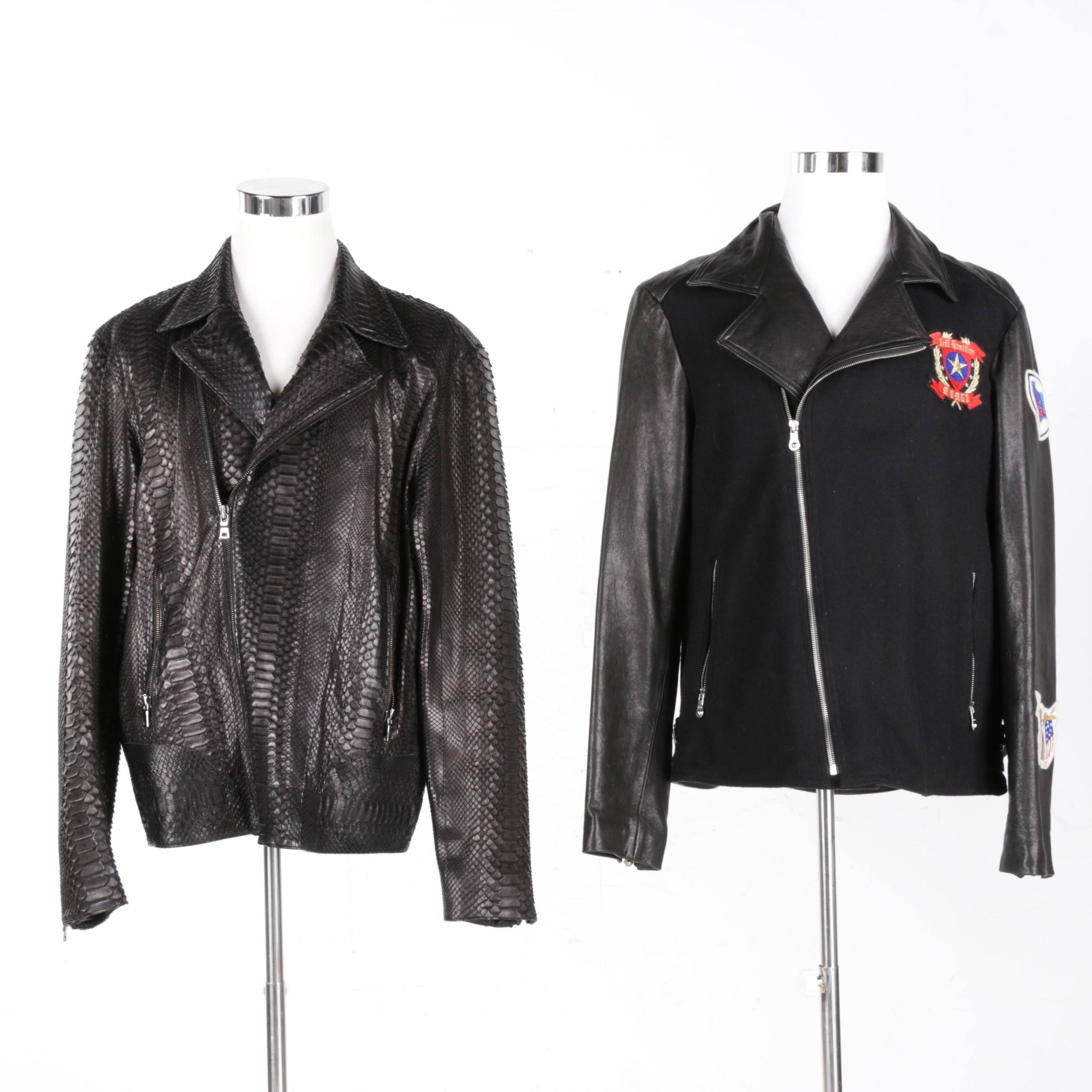 Jeff Hamilton Royal Enfield Motorcycle and Limited Edition Python Jackets